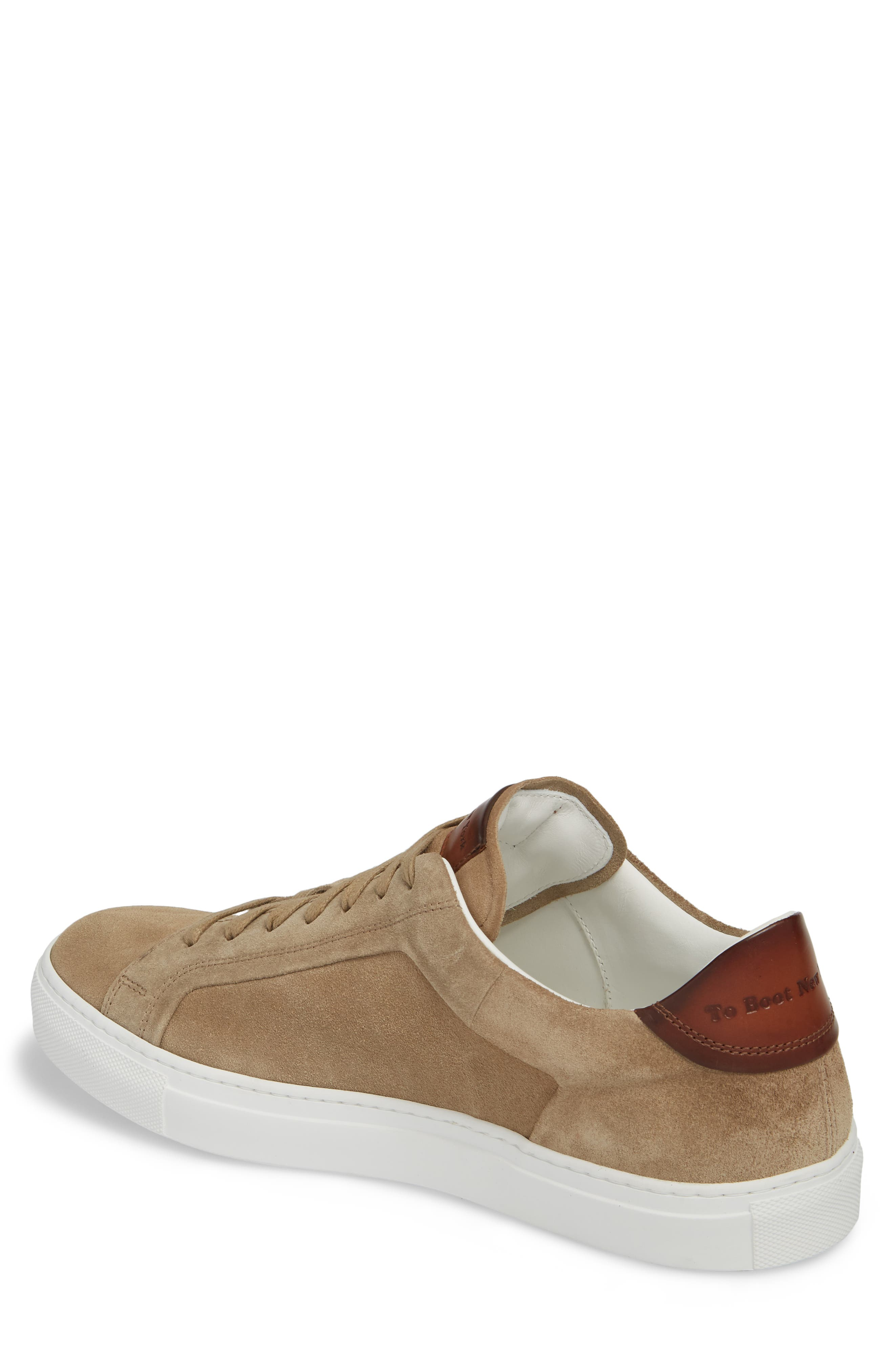 Britt Low Top Sneaker,                             Alternate thumbnail 2, color,                             Tan Suede