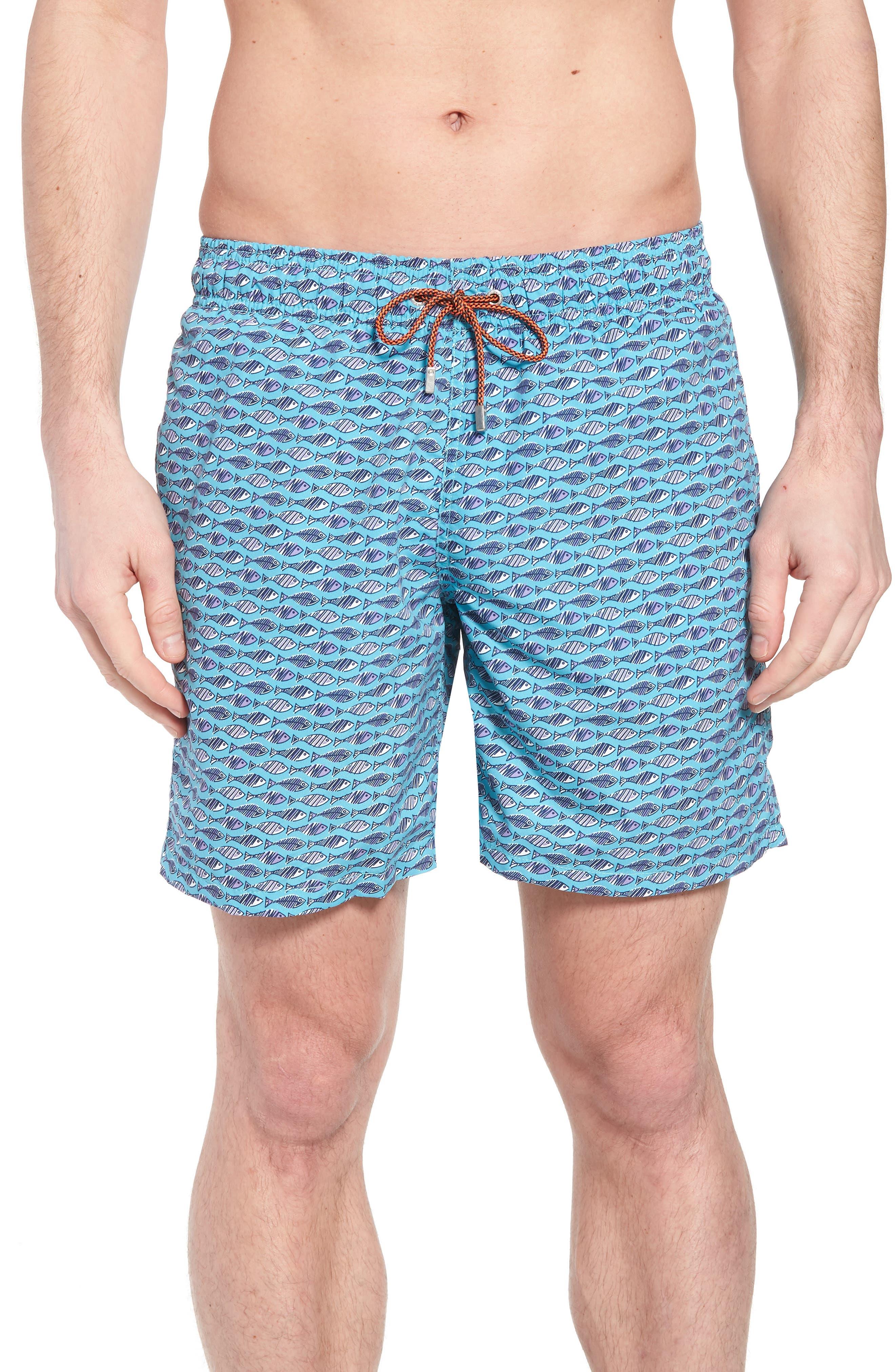Swim Trunks,                             Main thumbnail 1, color,                             Turquoise