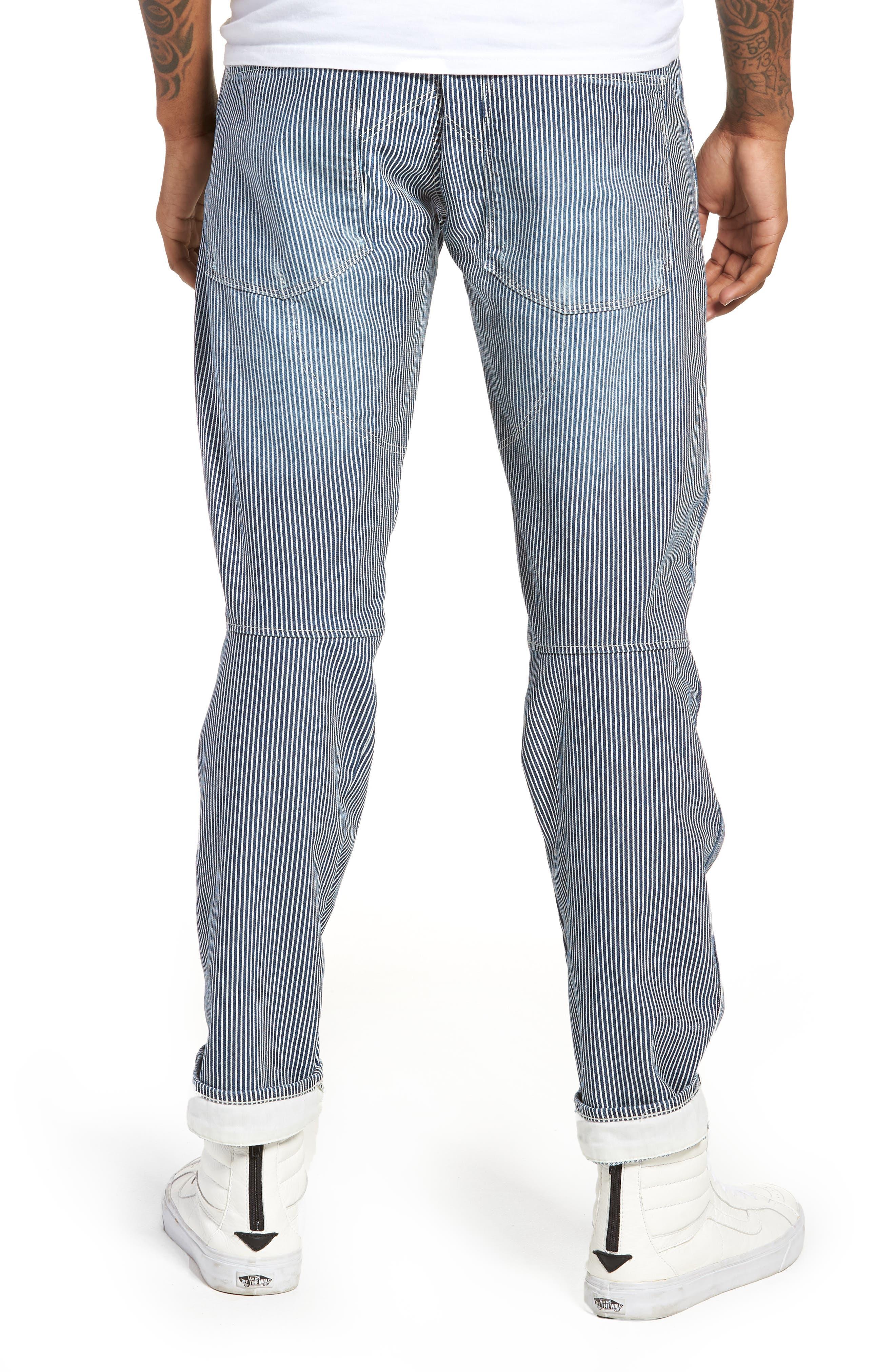 3D Slim Pants,                             Alternate thumbnail 2, color,                             Medium Aged Destroy