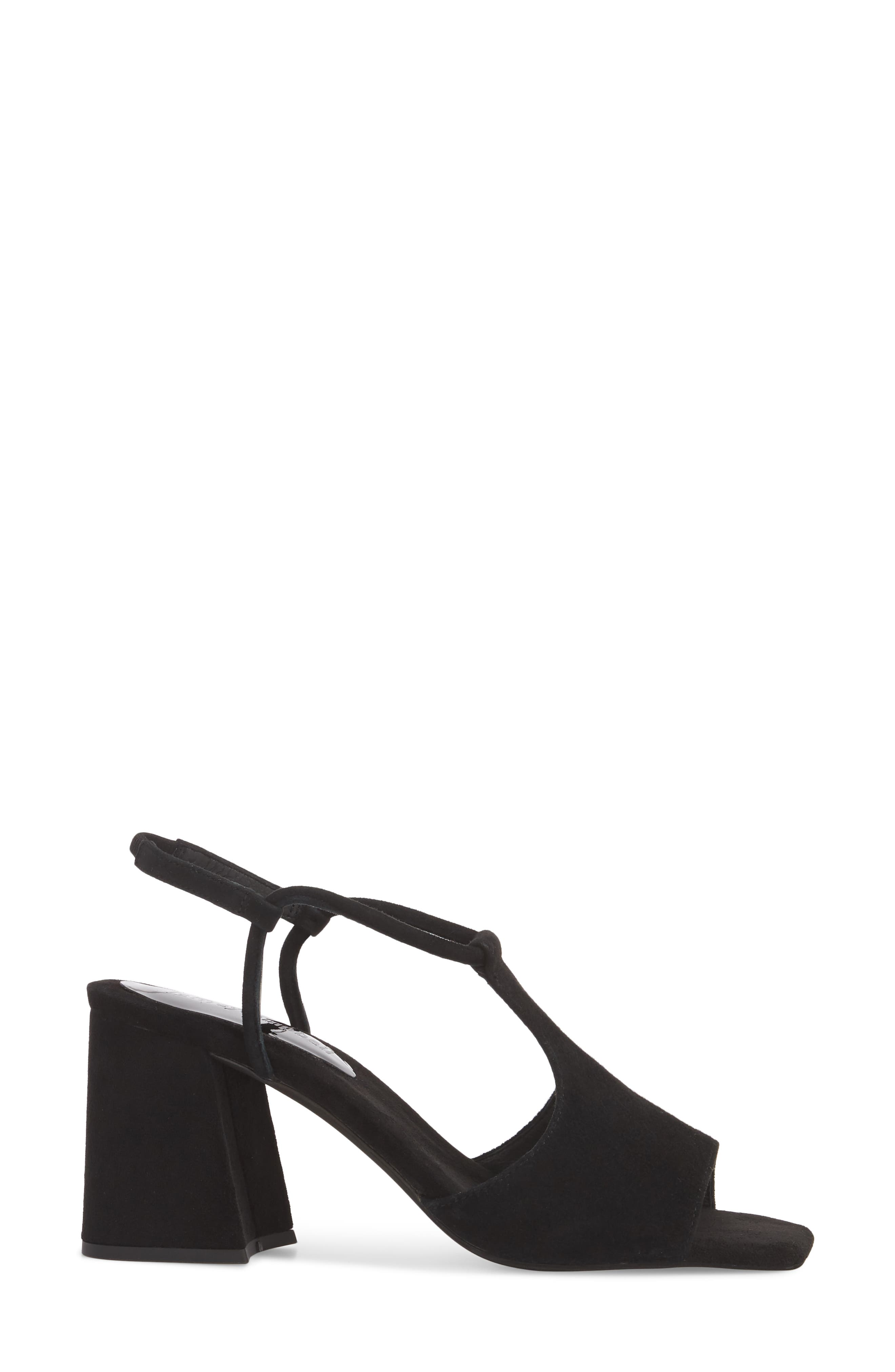 Mercedes Halter Sandal,                             Alternate thumbnail 3, color,                             Black Suede