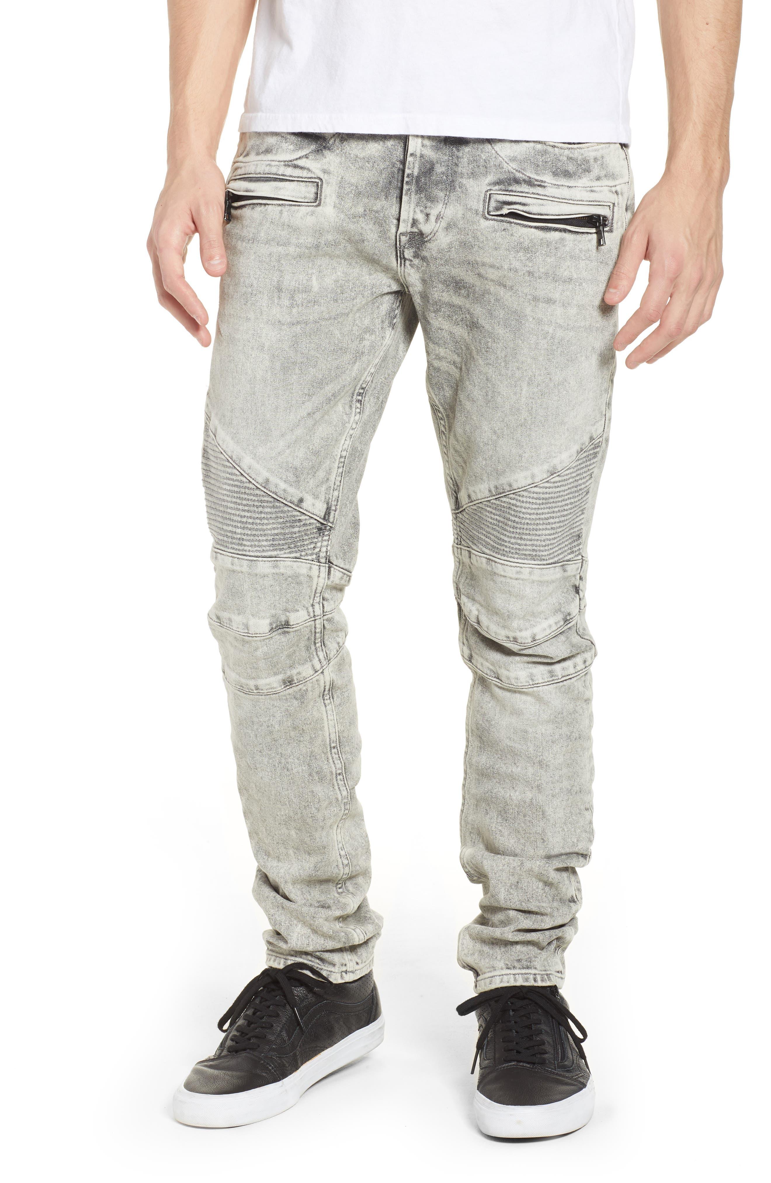 Hudson Blinder Biker Skinny Fit Jeans (Carbon Fiber)
