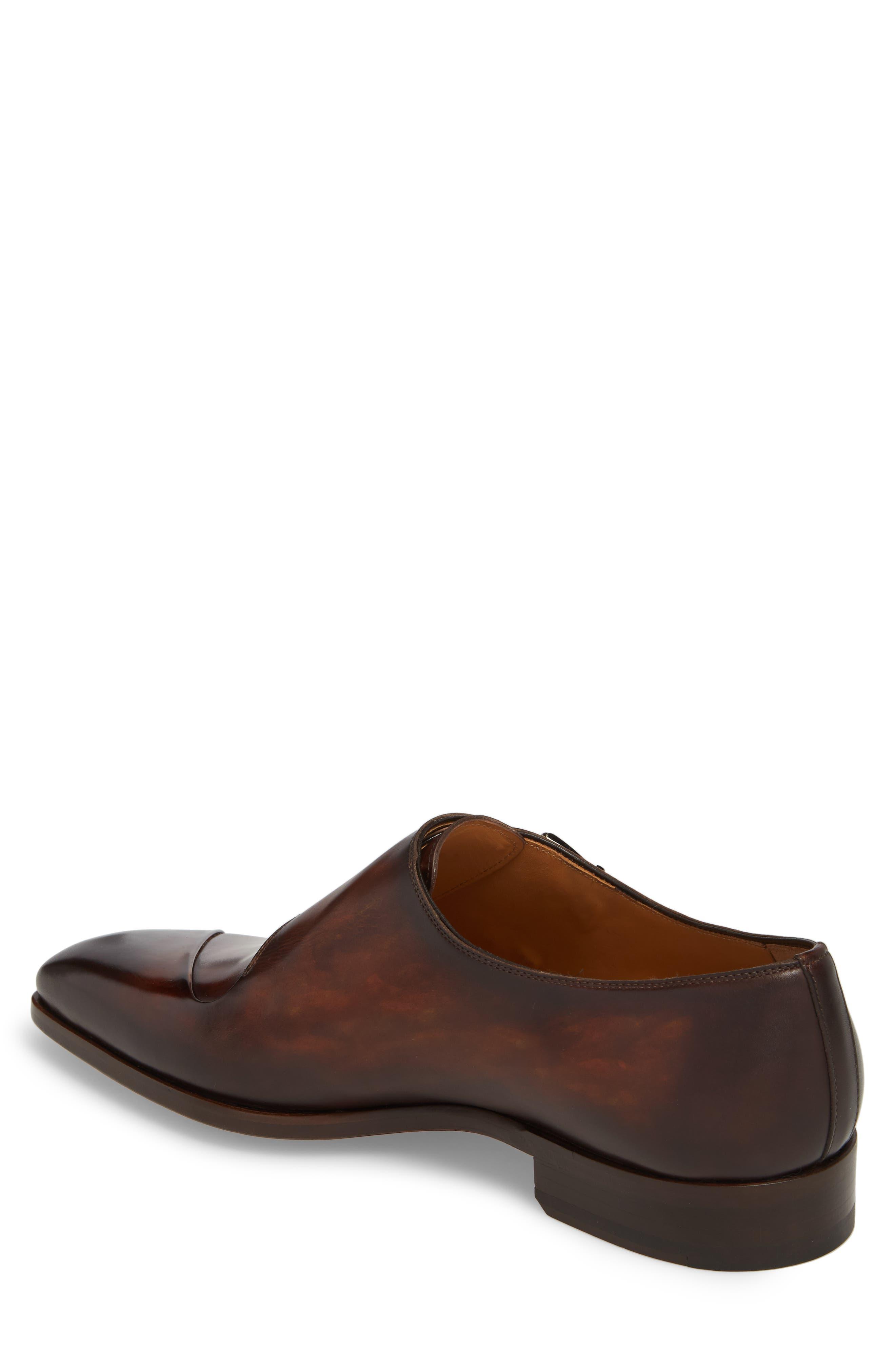 Hafiz Double Strap Monk Shoe,                             Alternate thumbnail 2, color,                             Tabaco Leather