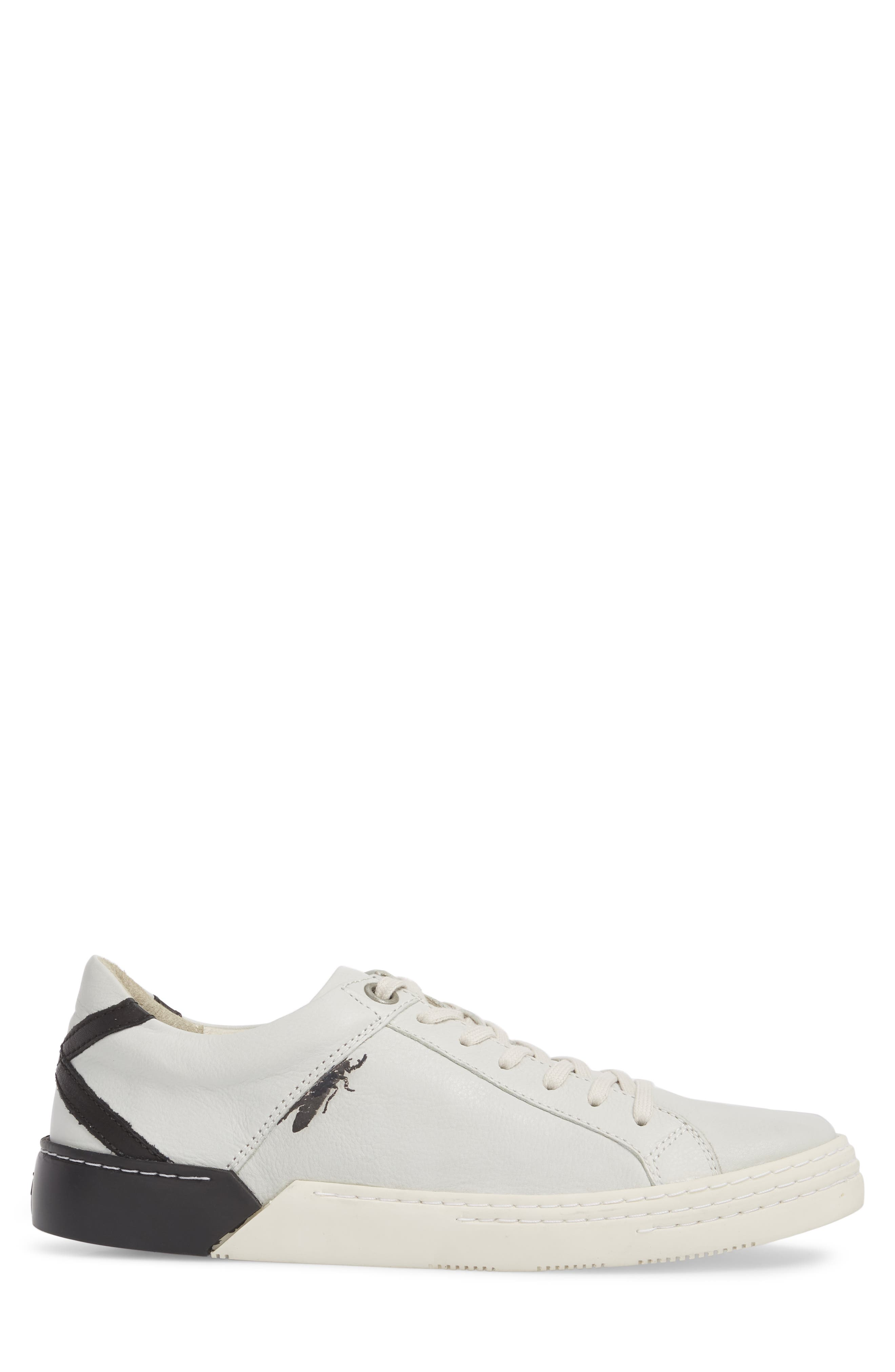Sene Low Top Sneaker,                             Alternate thumbnail 3, color,                             Off White Leather
