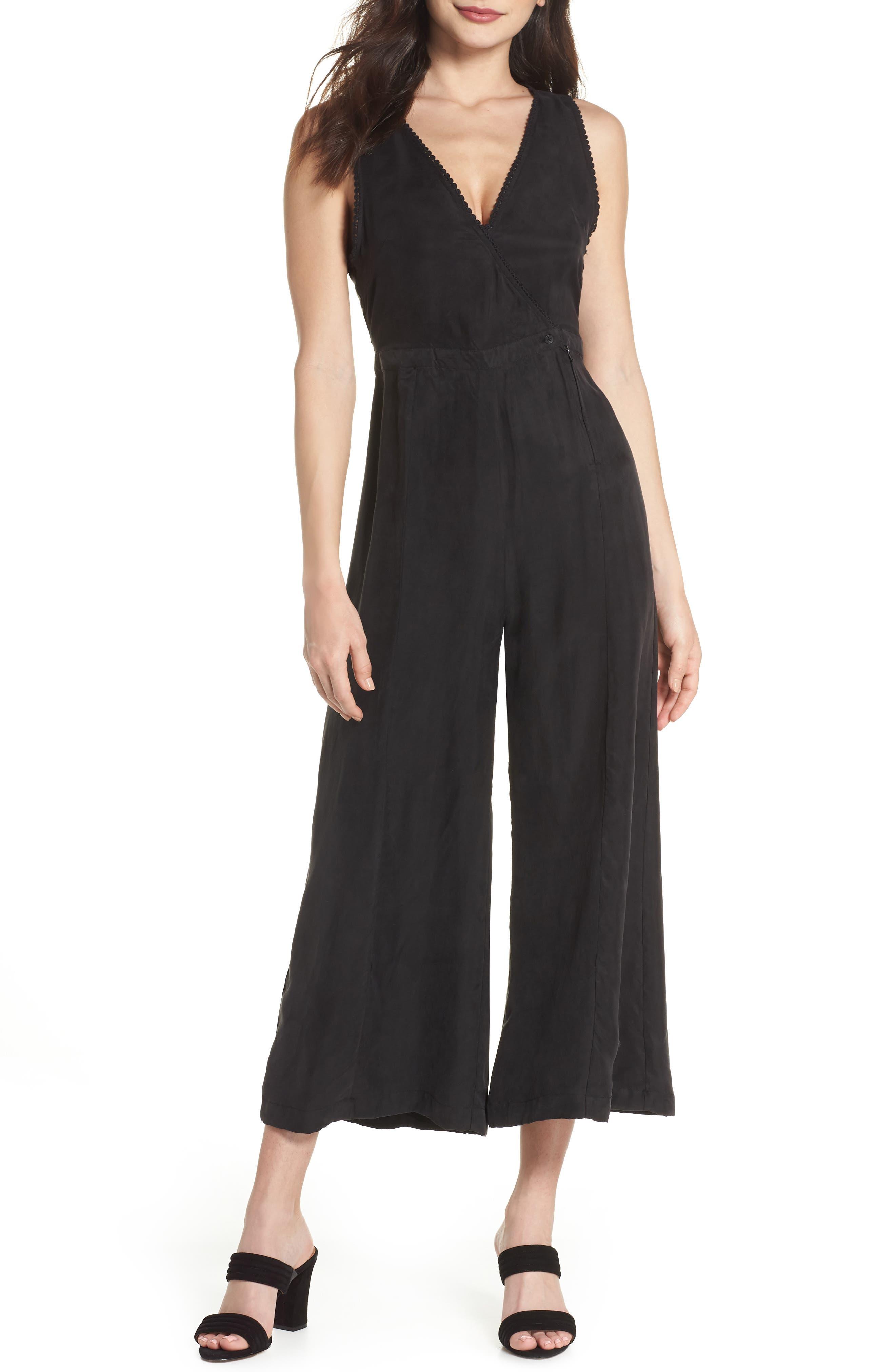 Birdie Sleeveless Jumpsuit,                         Main,                         color, Black