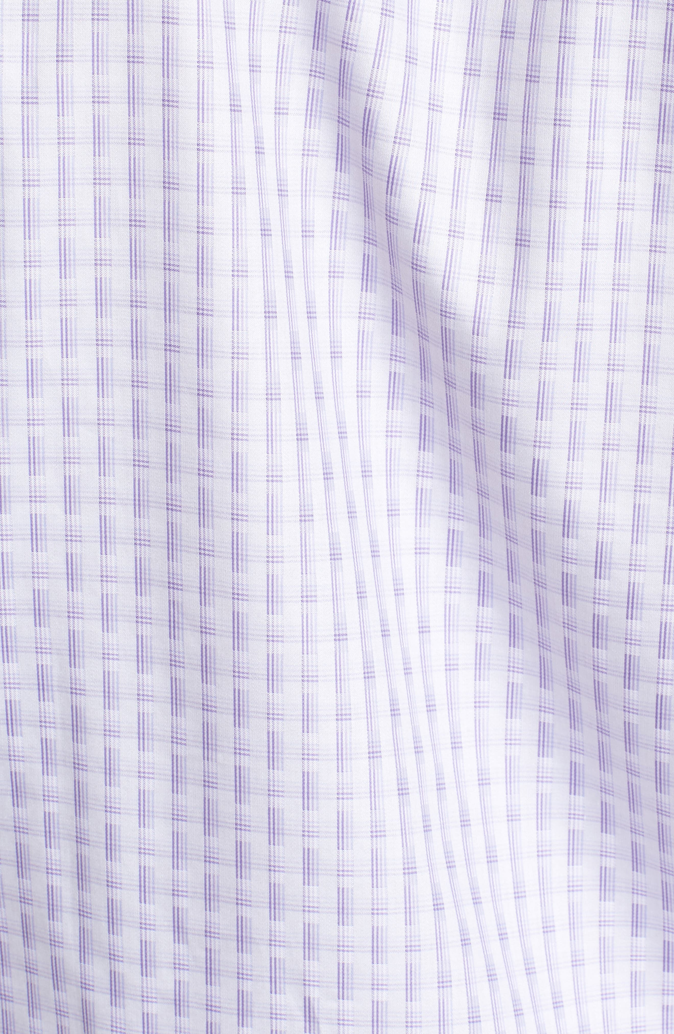 Modern Check Classic Fit Sport Shirt,                             Alternate thumbnail 5, color,                             Lilac