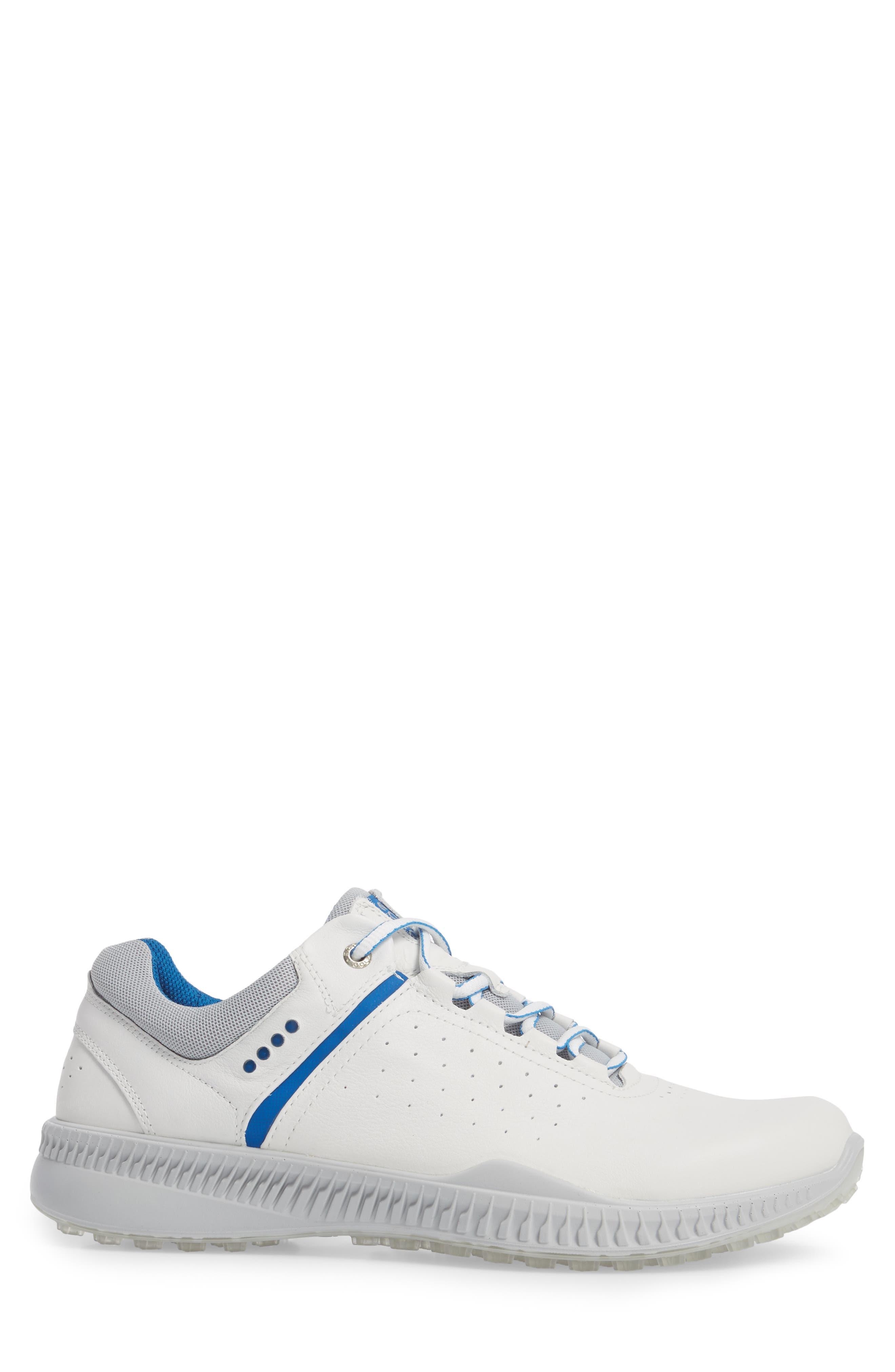 S-Drive Water Repellent Golf Shoe,                             Alternate thumbnail 3, color,                             White Leather