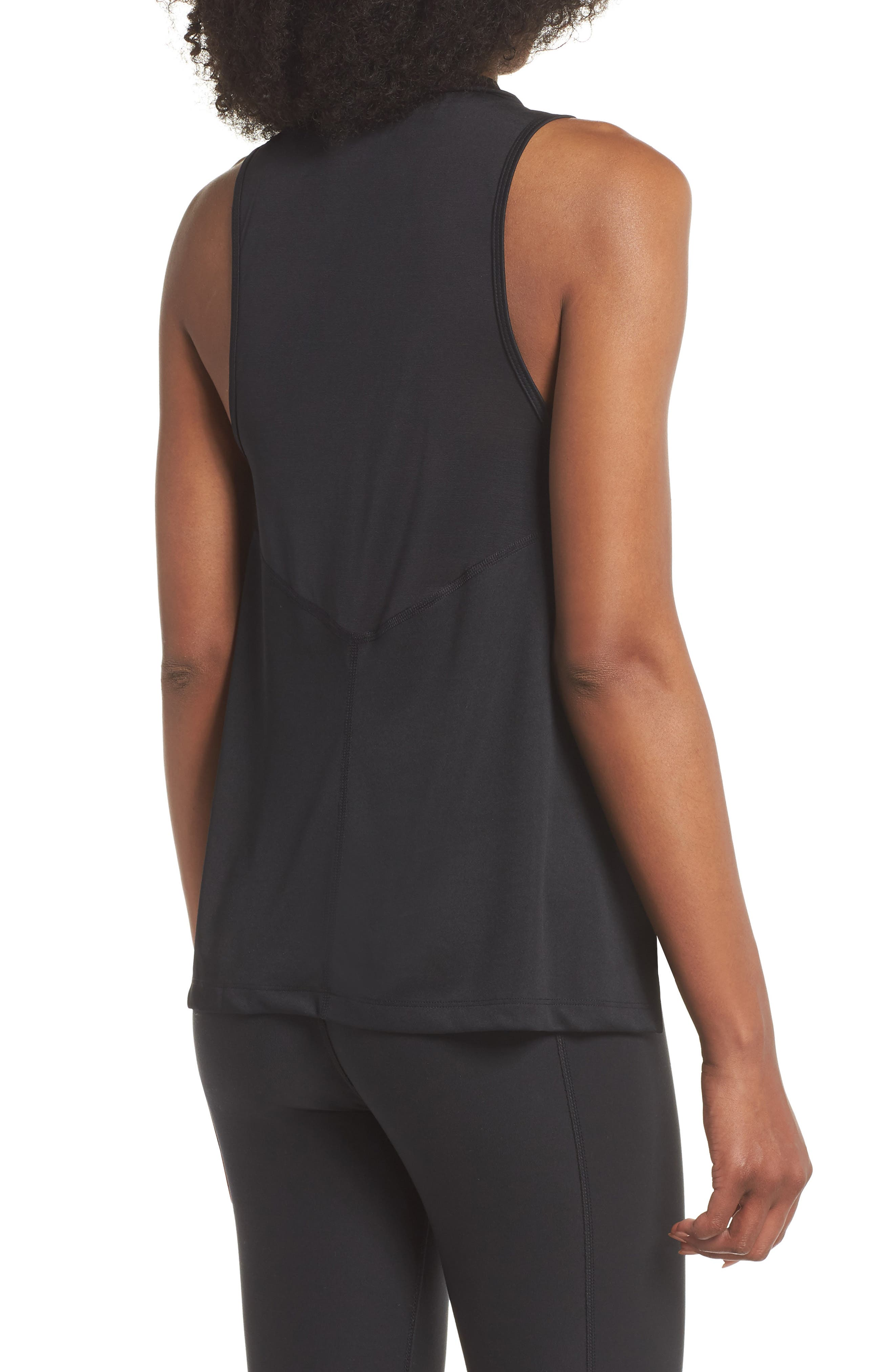 Dry Miler Tank,                             Alternate thumbnail 2, color,                             Black