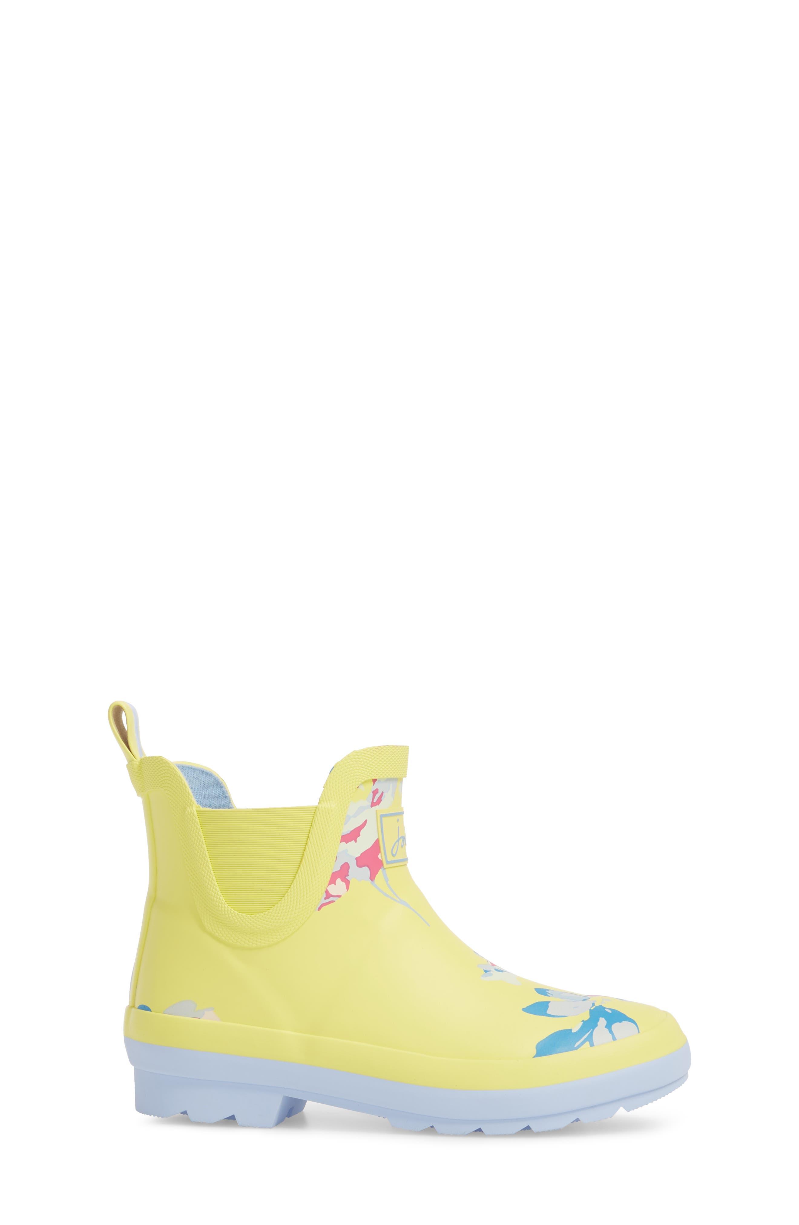 Print Rain Boot,                             Alternate thumbnail 3, color,                             Yellow Margate Floral