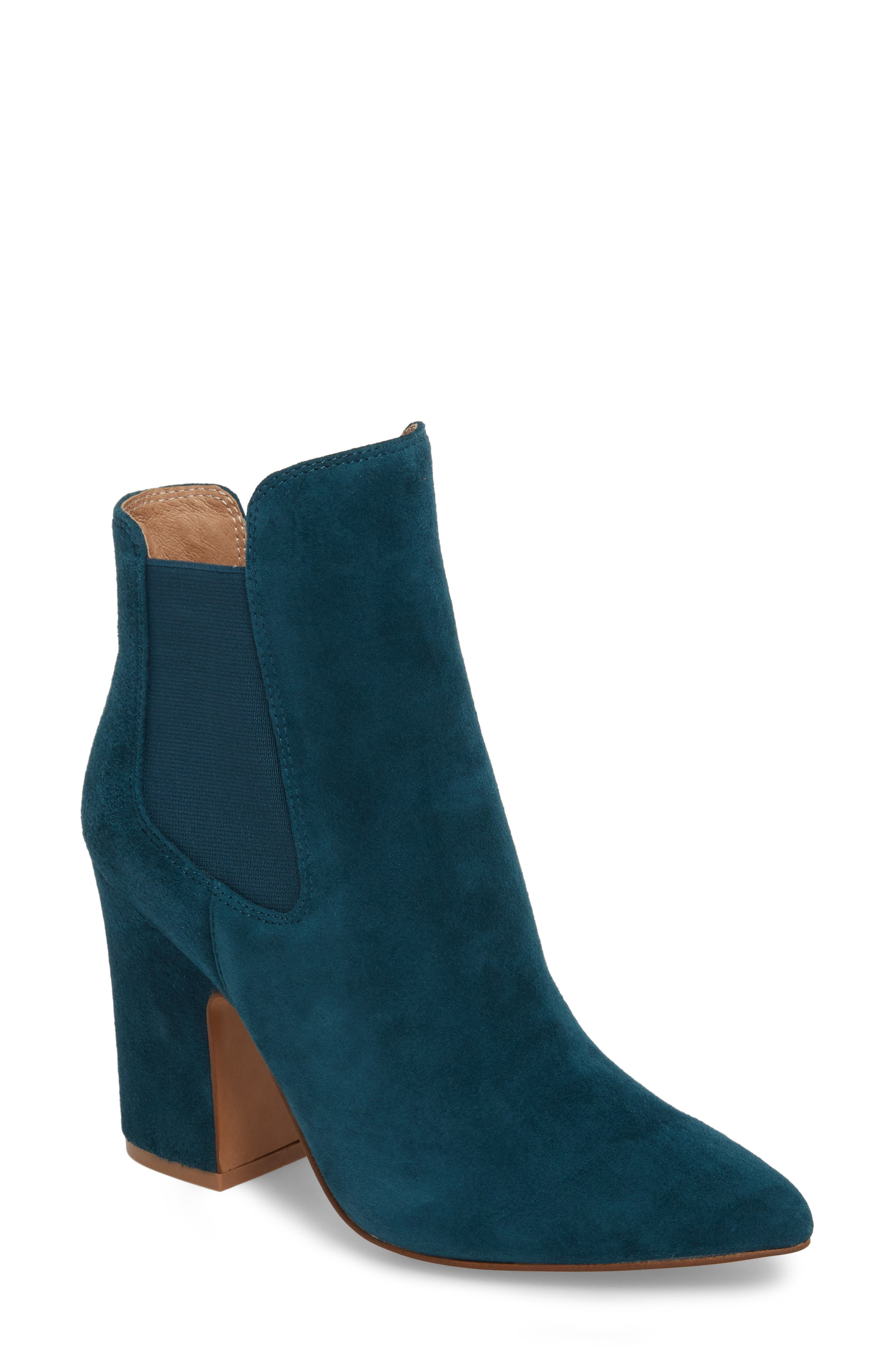 Starlight Bootie,                         Main,                         color, Teal Suede