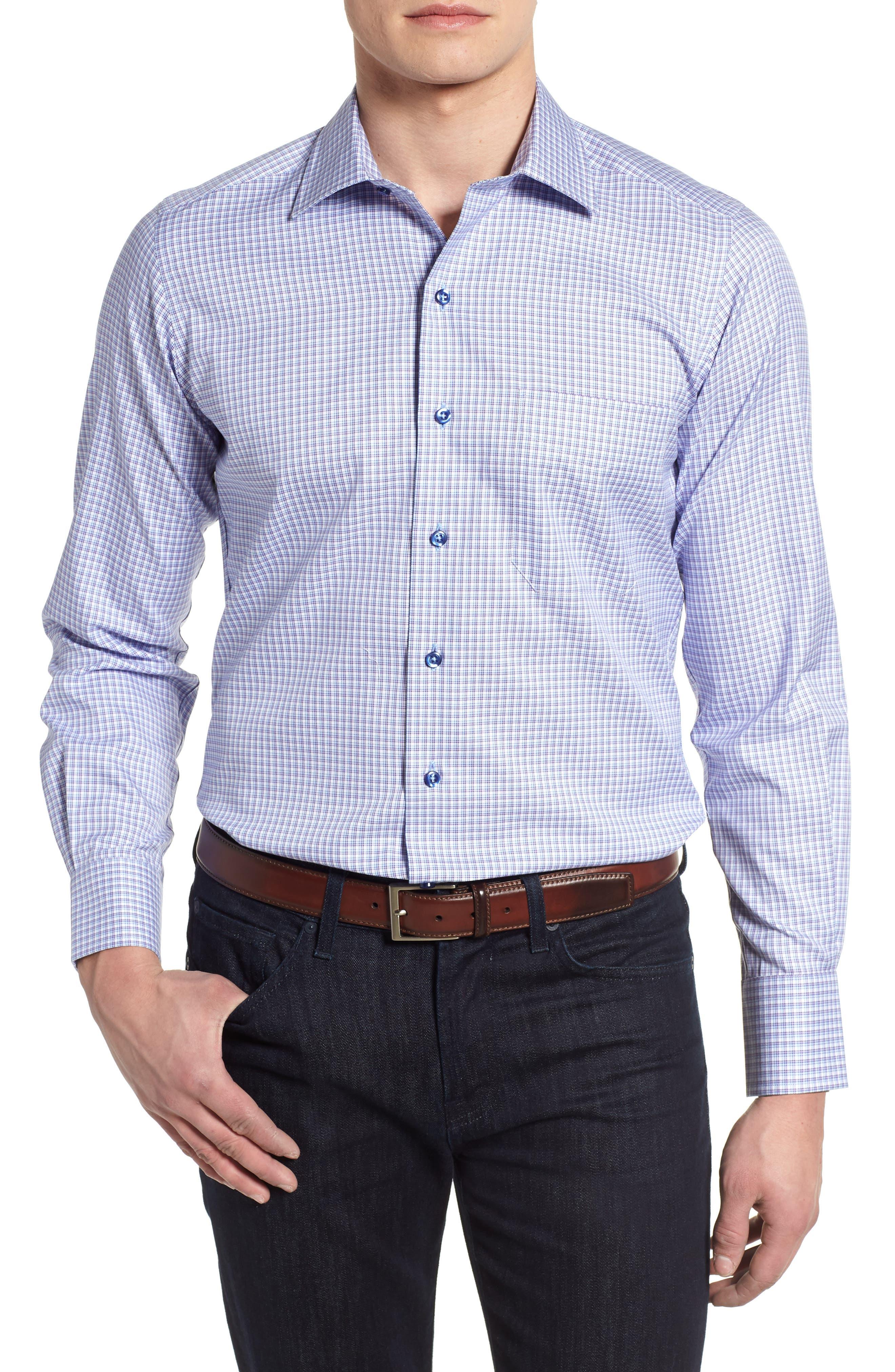 Sport Shirt,                         Main,                         color, Blue/ Purple
