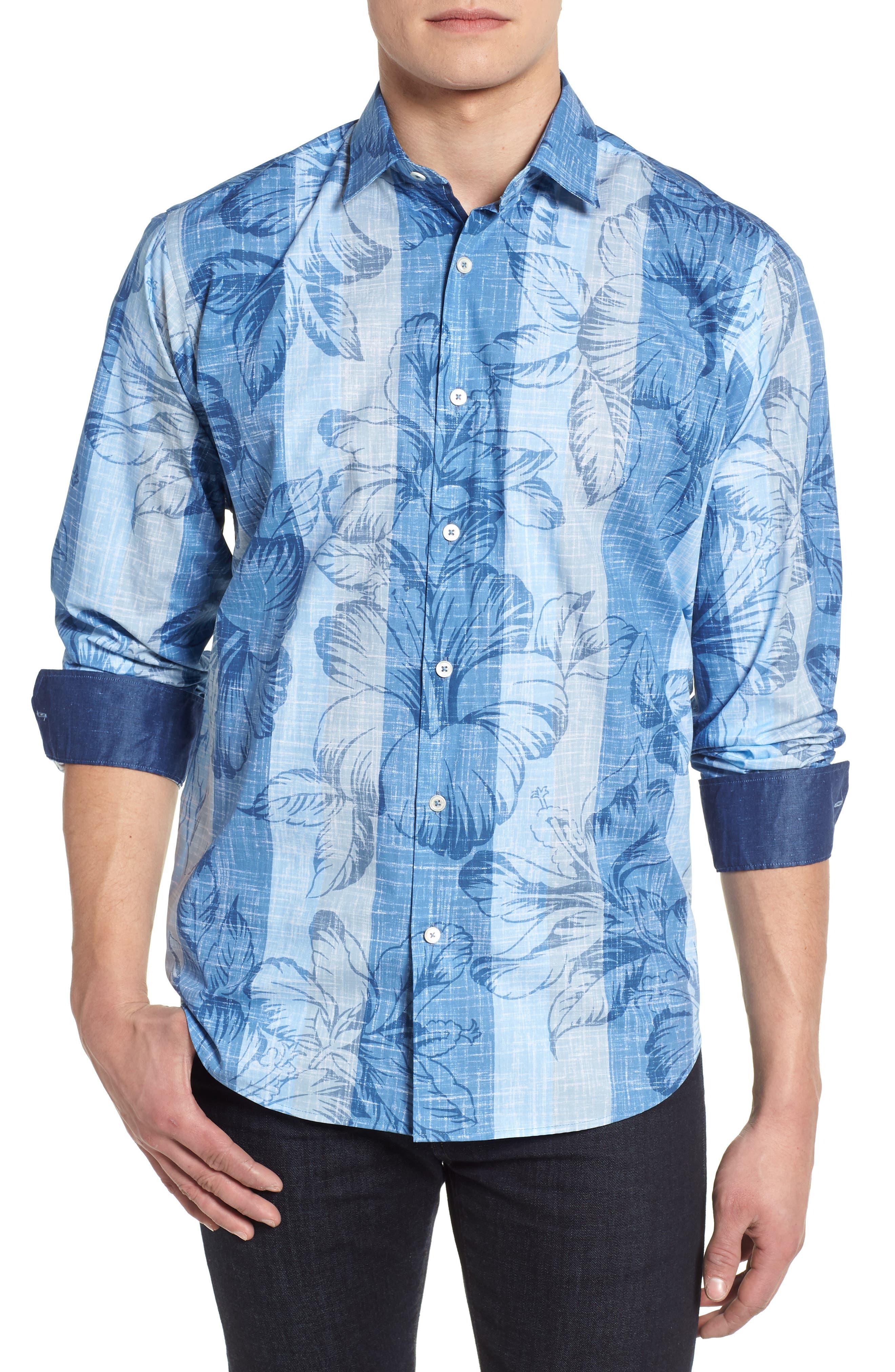 Sport Shirt,                         Main,                         color, Air Blue