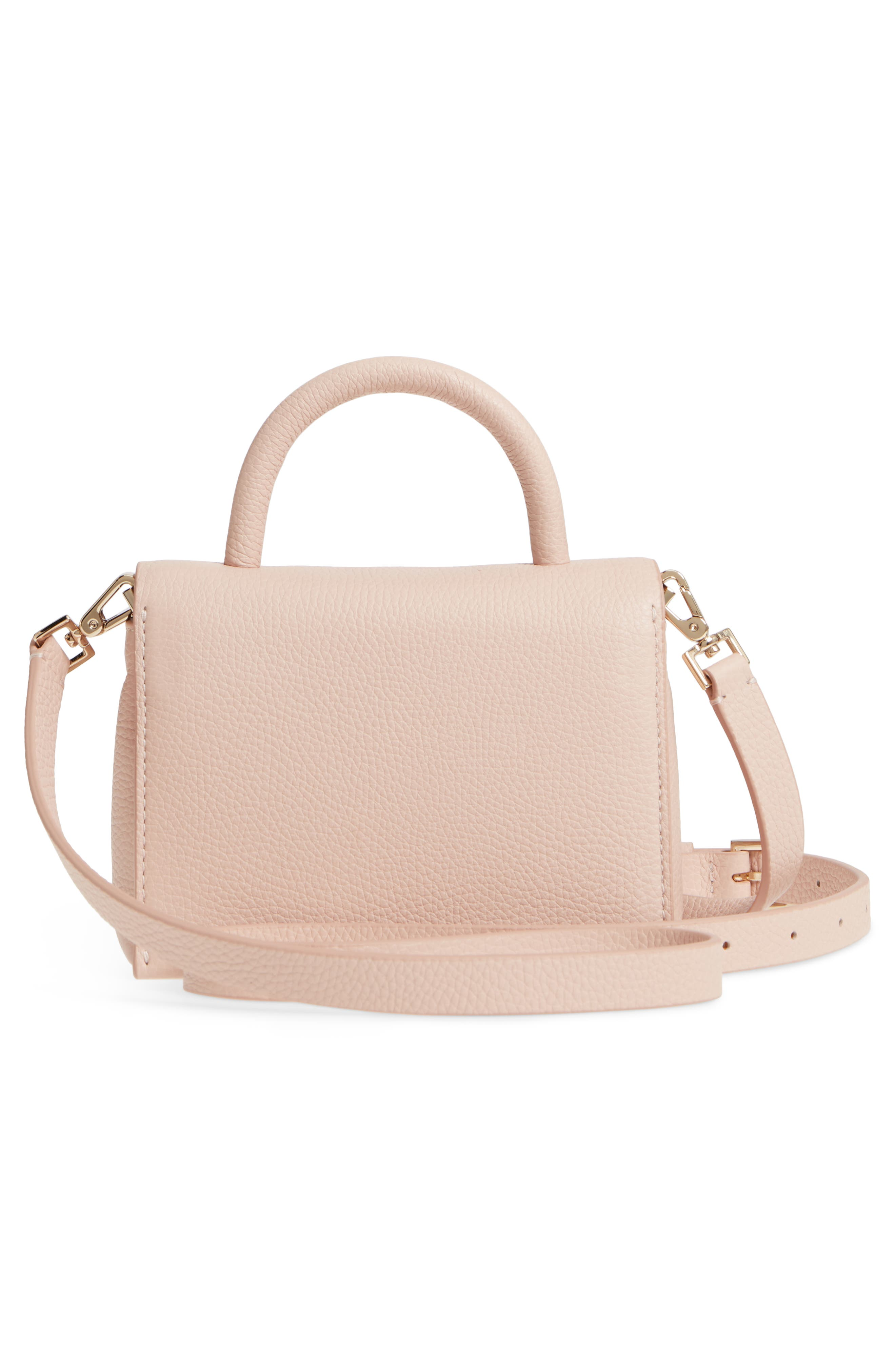 madison knollwood drive - hope leather crossbody bag,                             Alternate thumbnail 3, color,                             Dolce