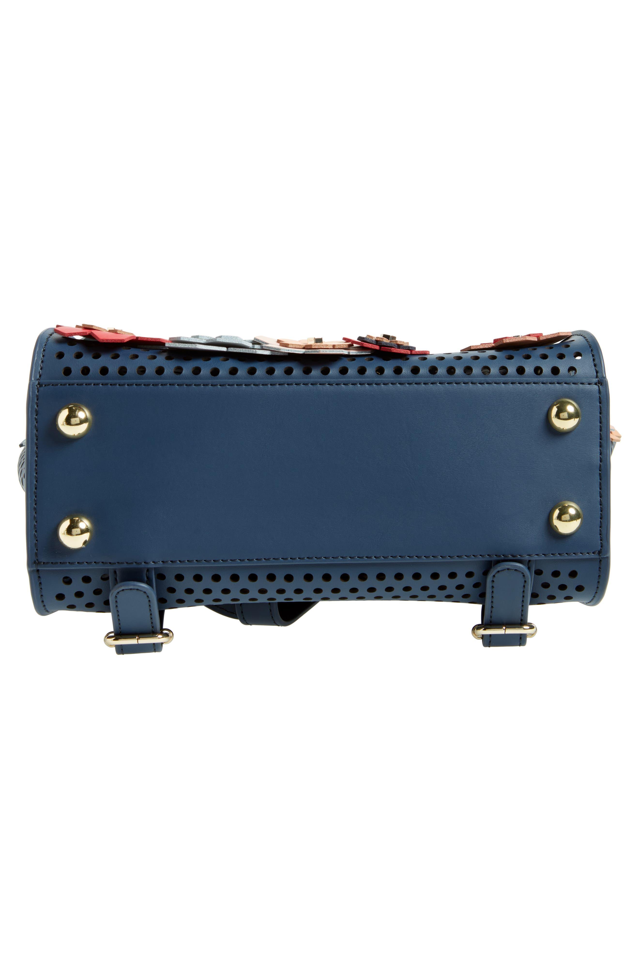 Eartha Kit Convertible Calfskin Leather Backpack,                             Alternate thumbnail 7, color,                             Blue/ Rainbow