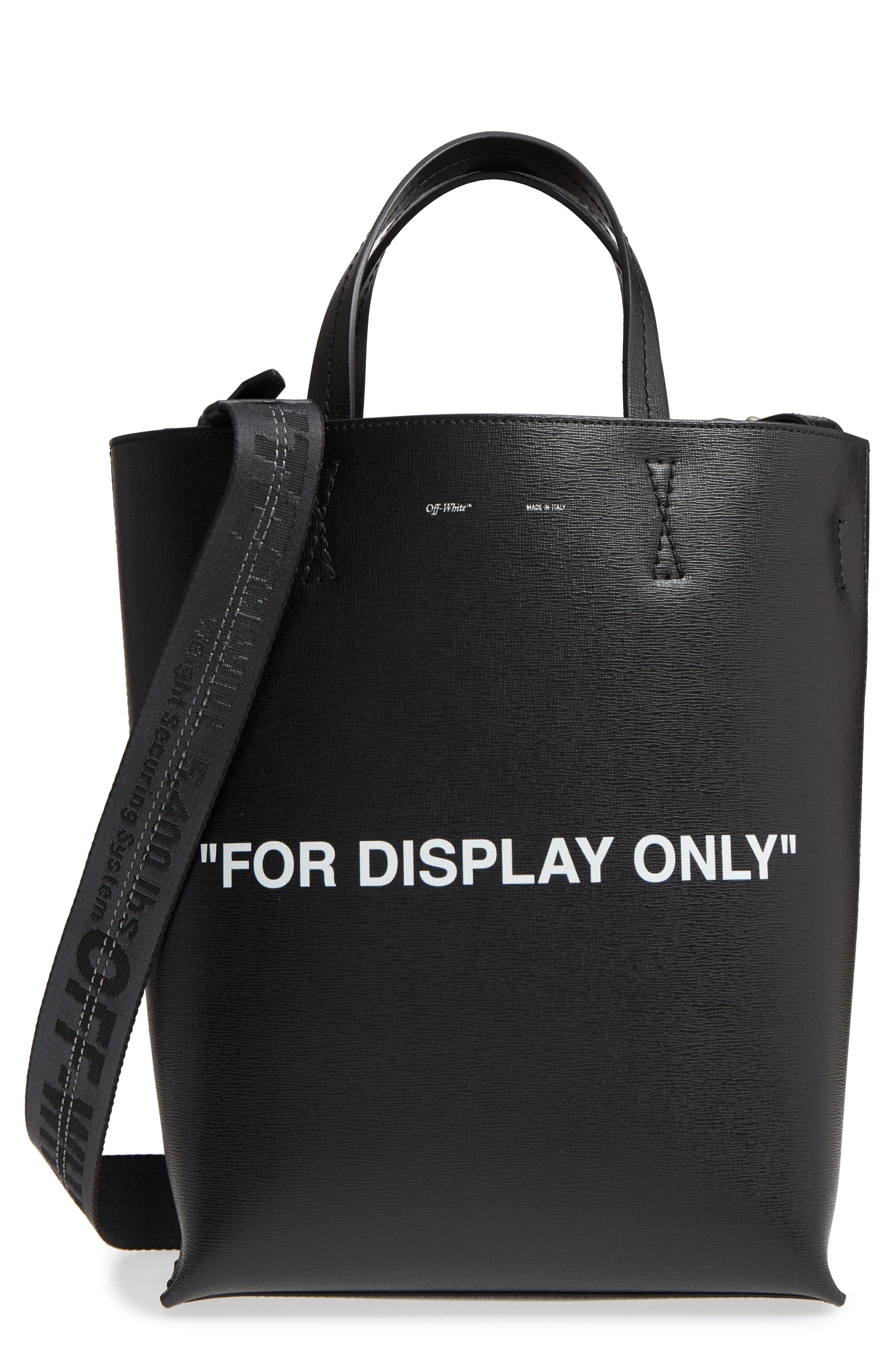Alternate Image 1 Selected - Off-White Virgil Was Not Here Leather Tote