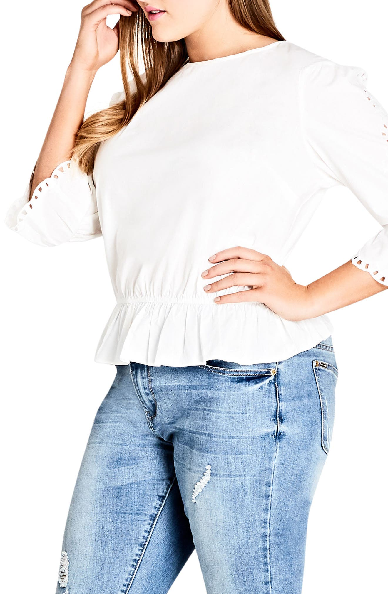 City Chic Day Dreamer Top (Plus Size)
