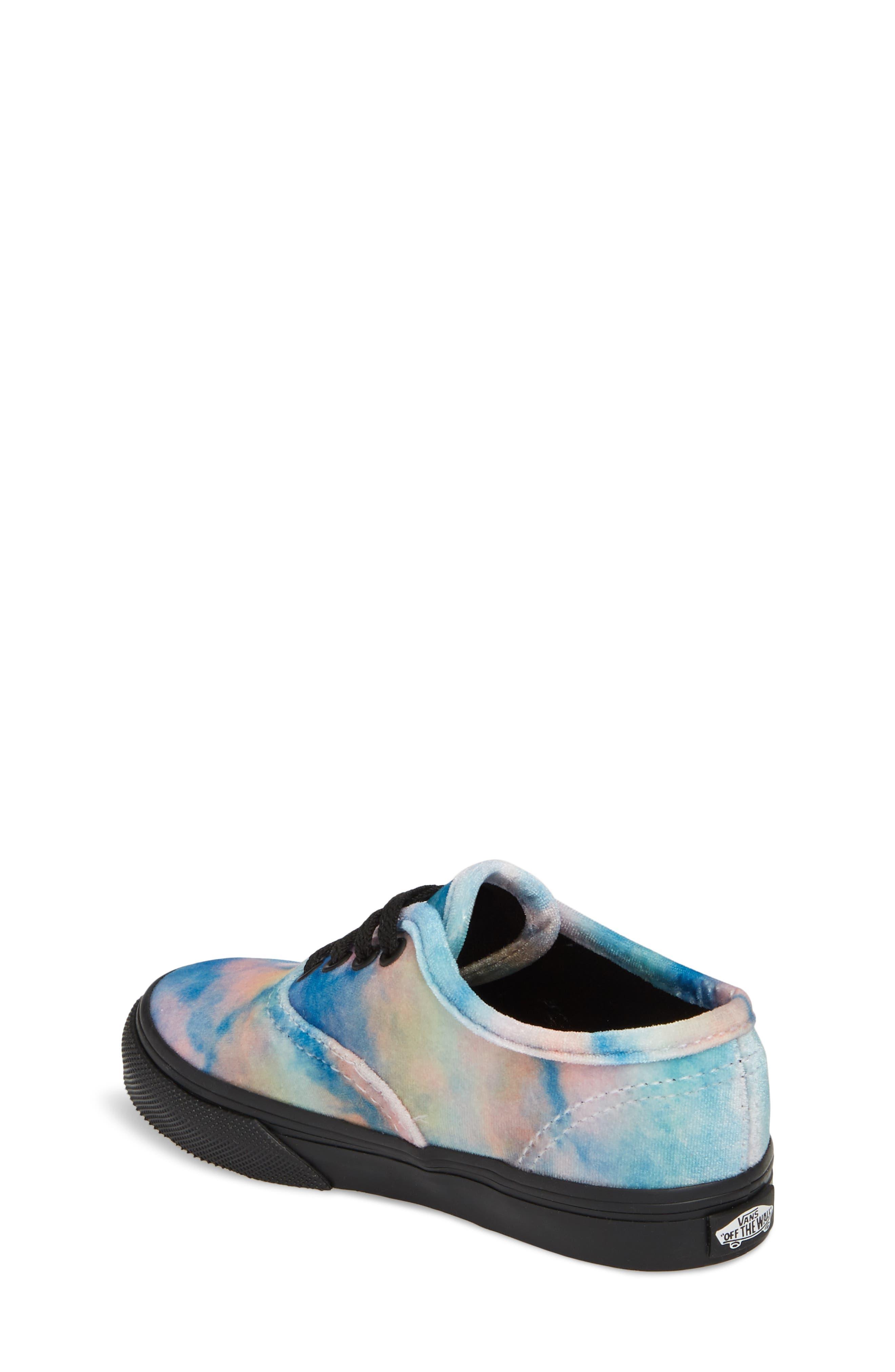 Authentic Velvet Tie Dye Sneaker,                             Alternate thumbnail 2, color,                             Black/ Multi Velvet Tie Dye