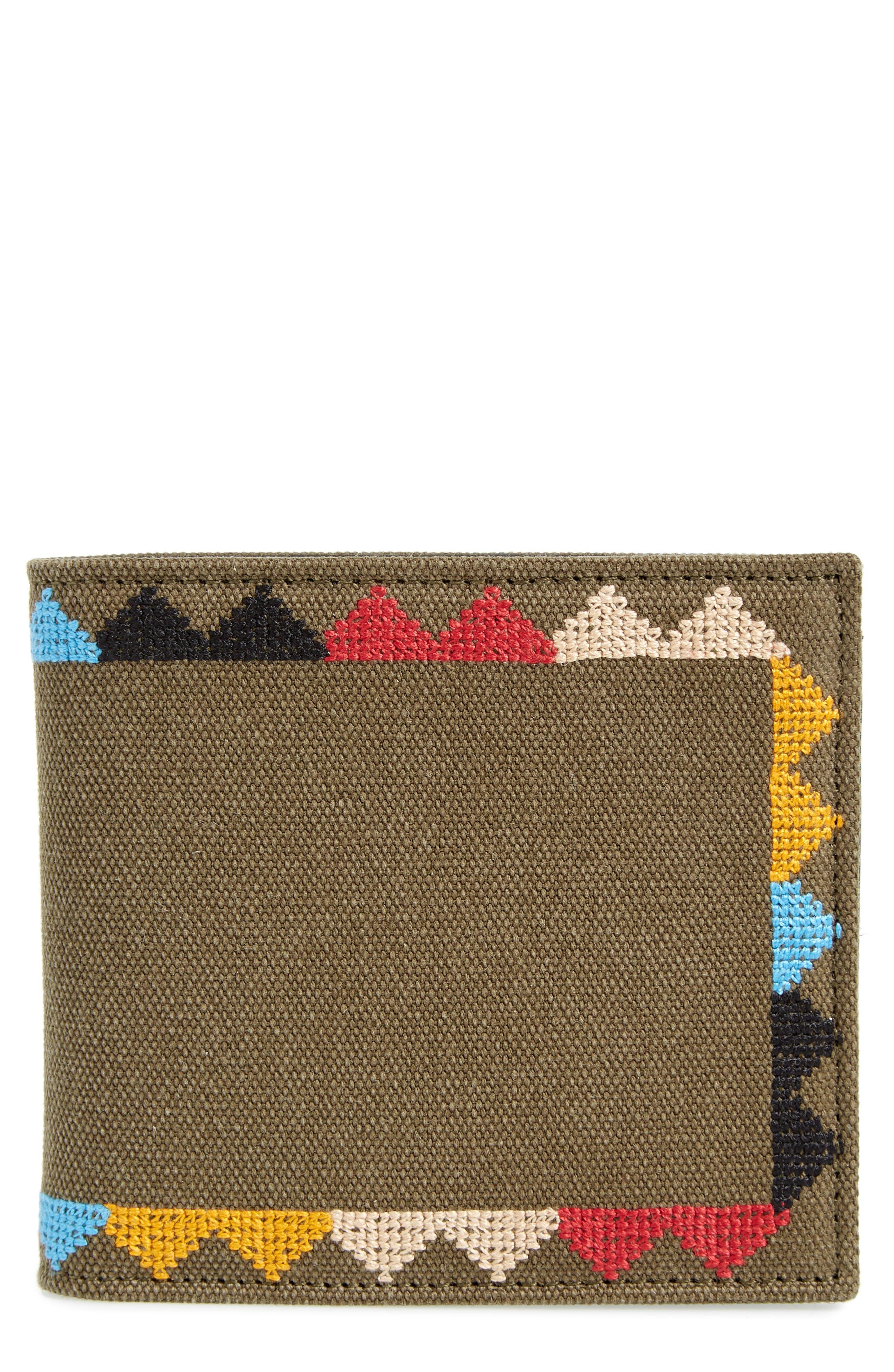 GARAVANI Canvas Wallet,                             Main thumbnail 1, color,                             L90 Olive