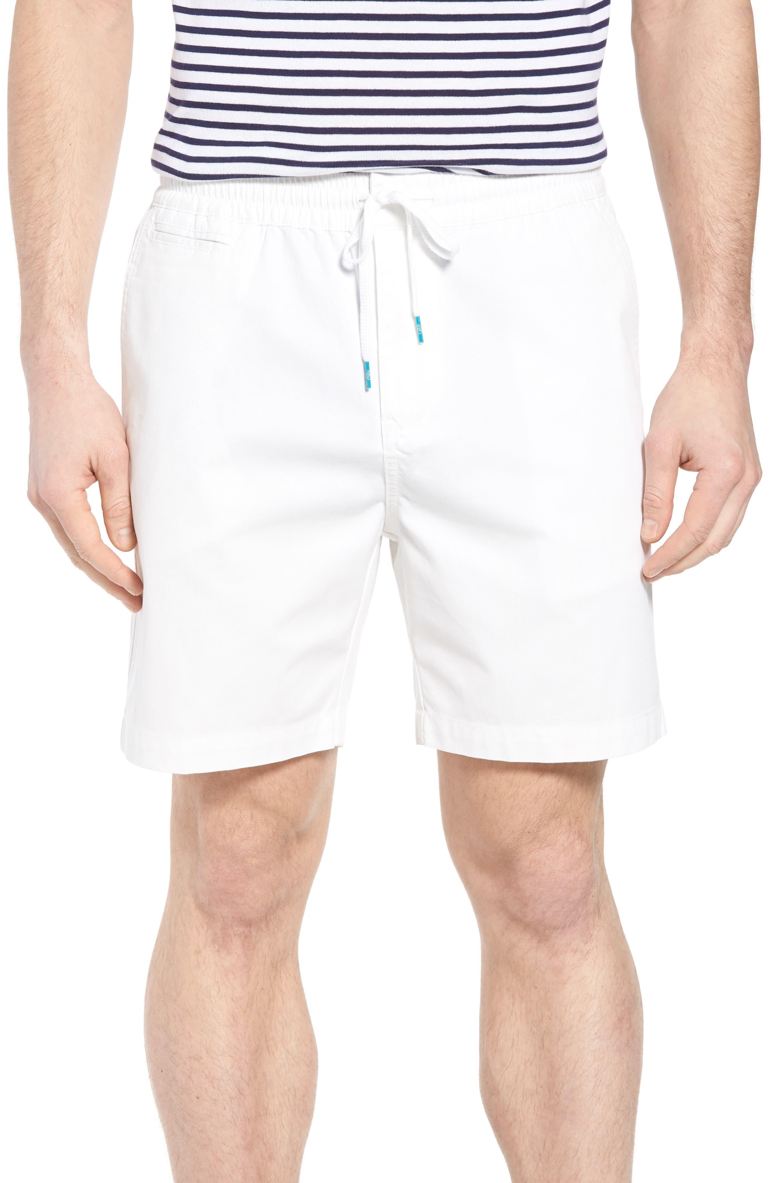 Drawstring Bedford Corduroy Shorts,                             Main thumbnail 1, color,                             White