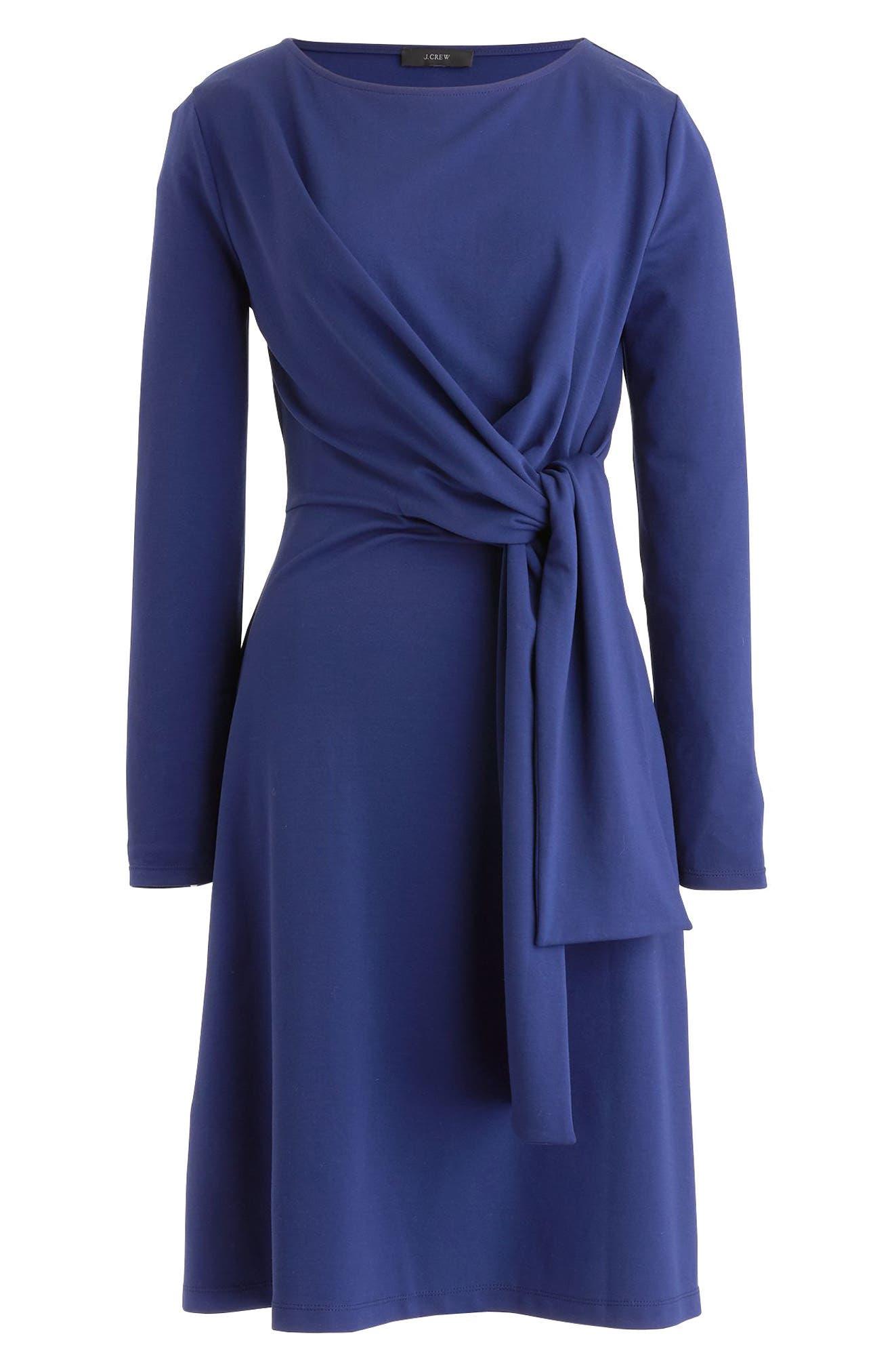Drapey Tie Waist Dress,                             Alternate thumbnail 4, color,                             Vivid Ink