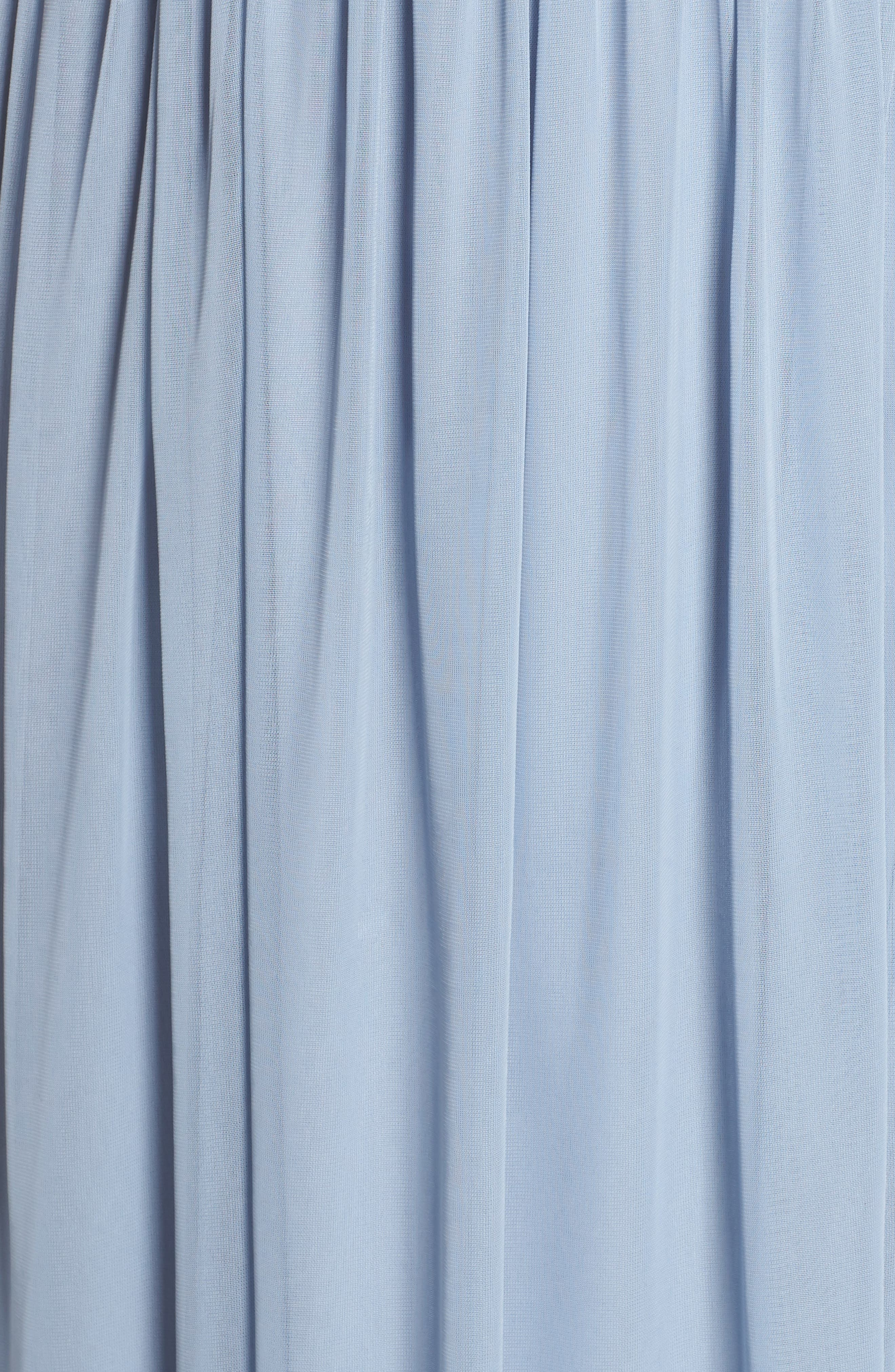 Tulle Gown,                             Alternate thumbnail 5, color,                             Dusty Periwinkle