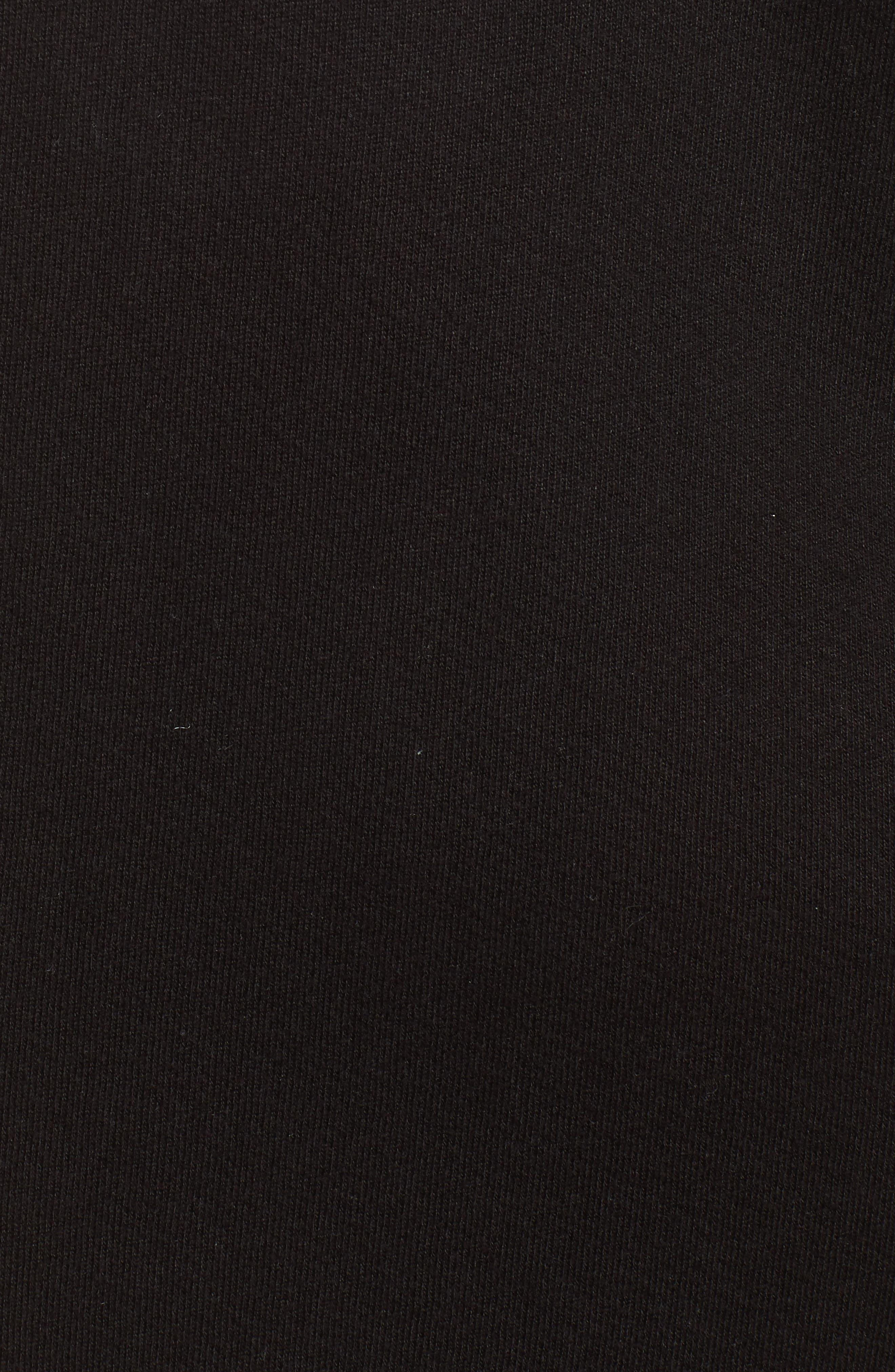 Camino One-Shoulder Dress,                             Alternate thumbnail 5, color,                             Black Cat