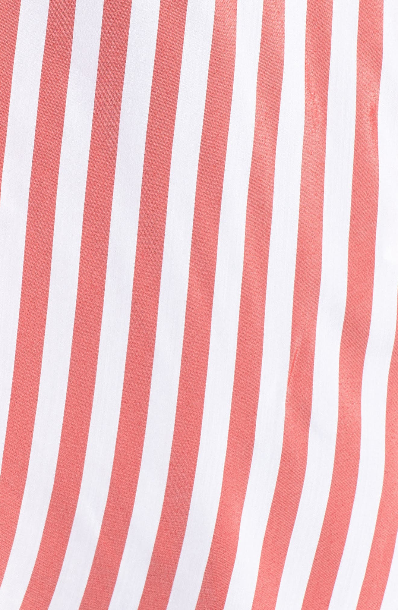 Stripe Blouse,                             Alternate thumbnail 6, color,                             Red/ White Stripe