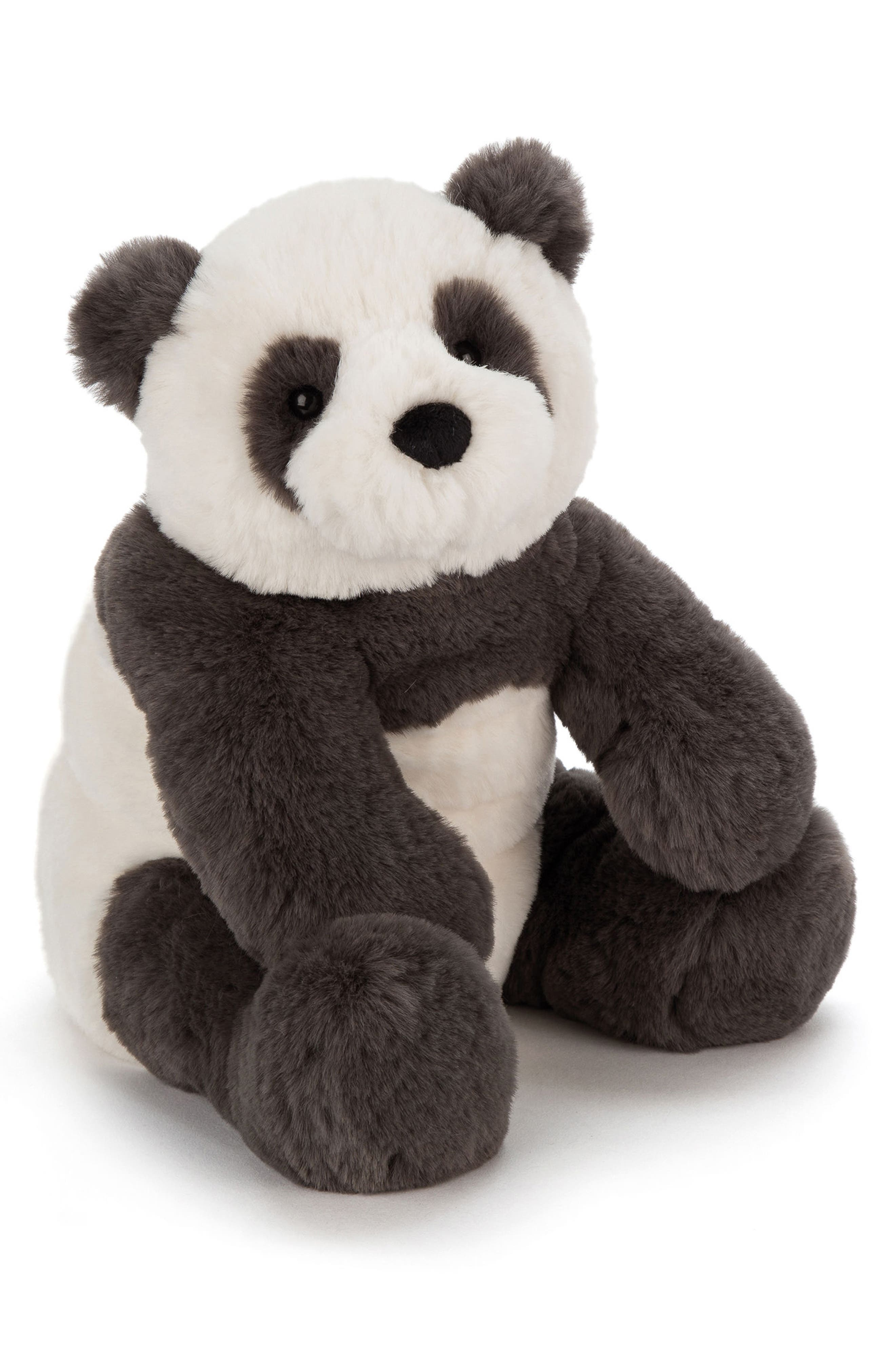 Little Harry Panda Stuffed Animal,                         Main,                         color, Black / Cream