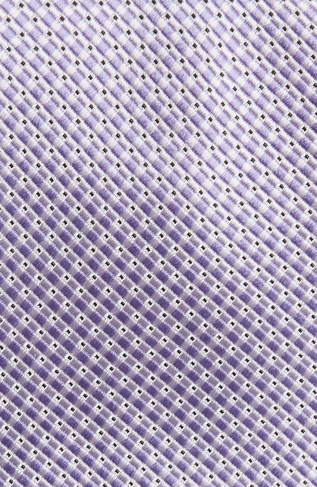 Check Silk Tie,                             Alternate thumbnail 2, color,                             Lilac