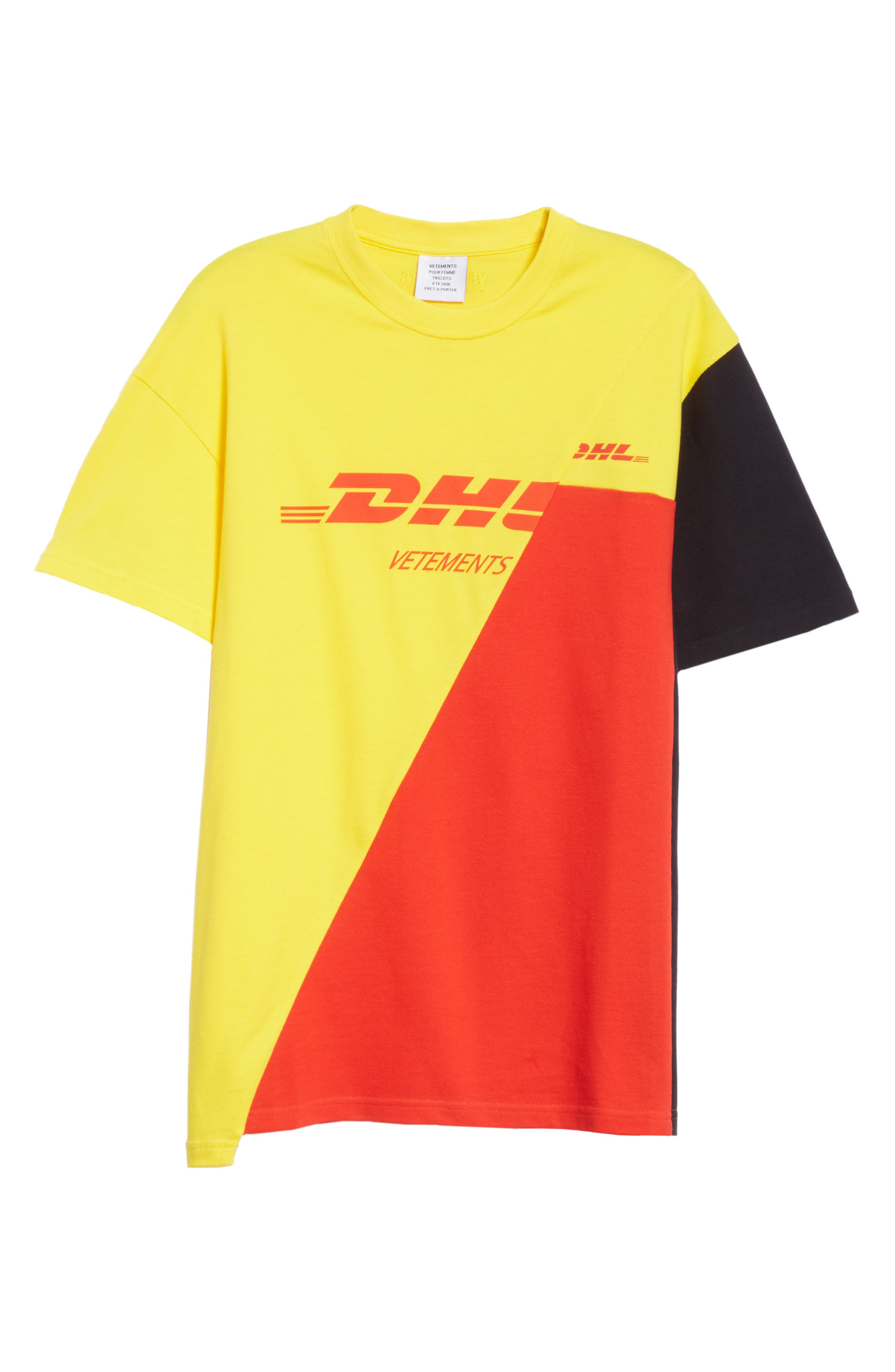 DHL Cut-Up Tee,                             Alternate thumbnail 6, color,                             Yellow