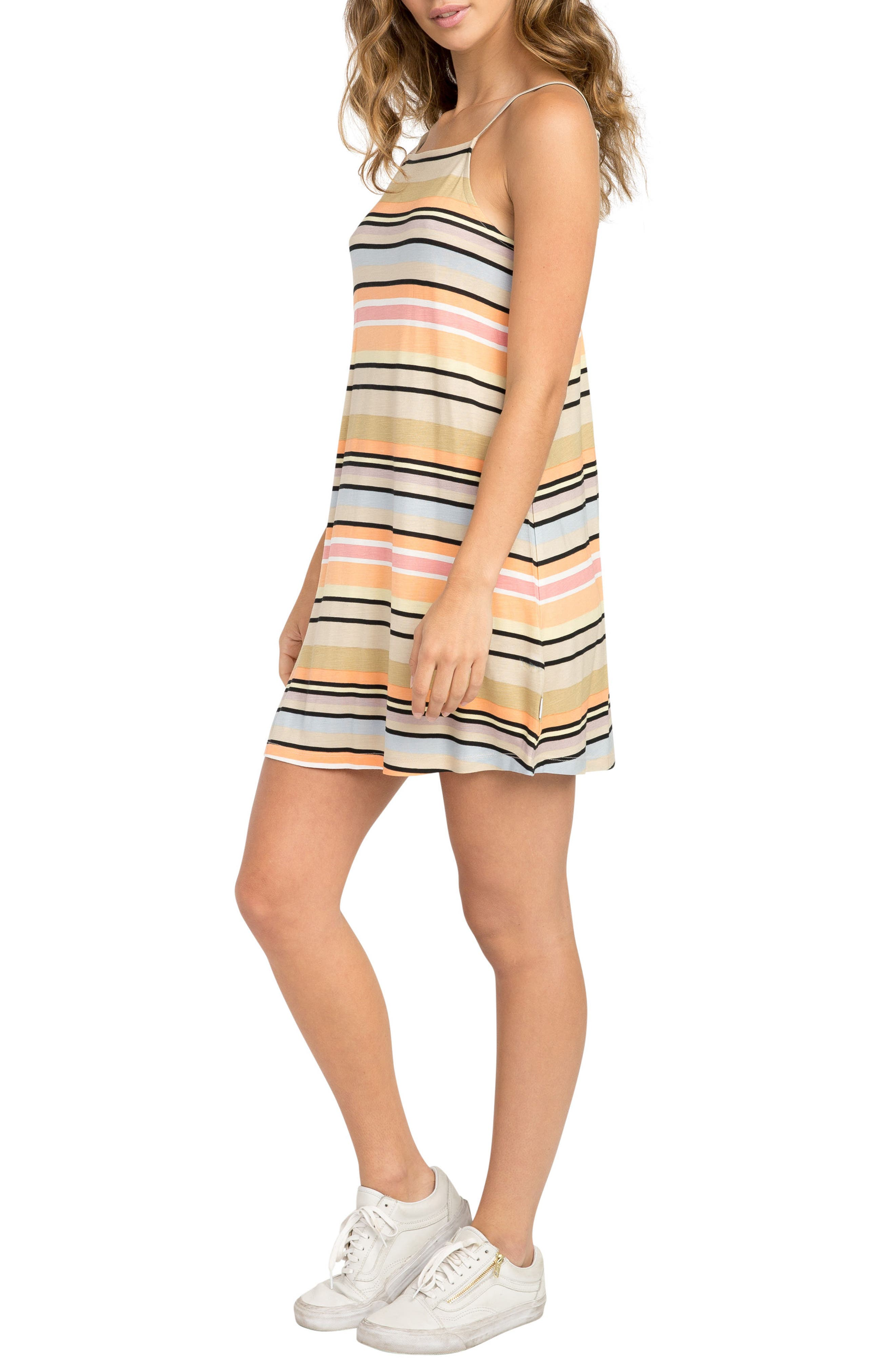 Hyacinth Stripe Sundress,                             Alternate thumbnail 3, color,                             Clay
