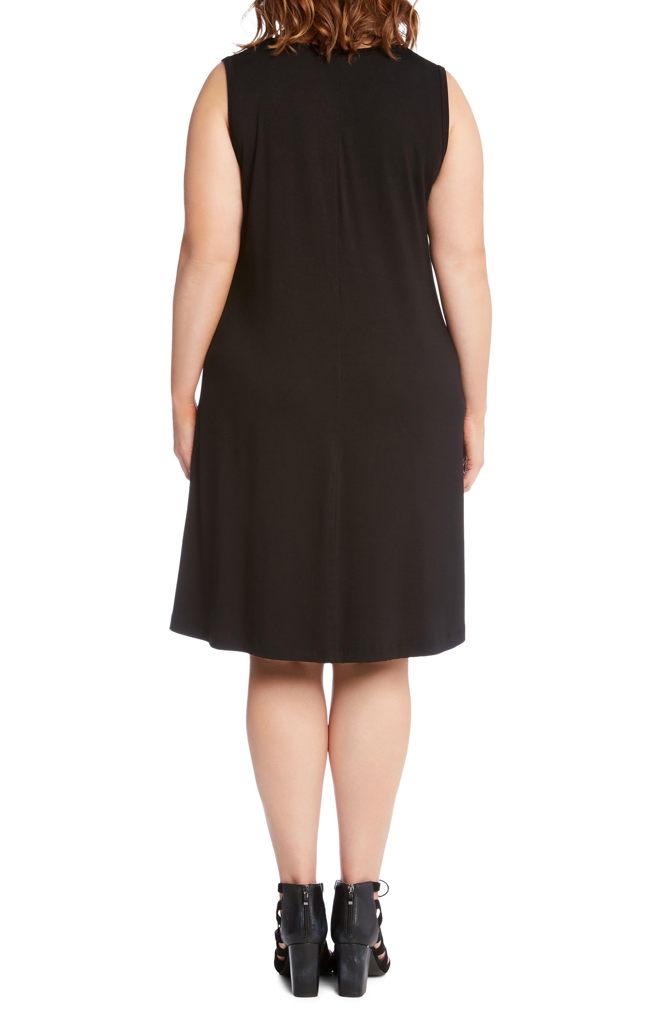 Sleeveless Pocket Jersey Dress,                             Alternate thumbnail 3, color,                             Black