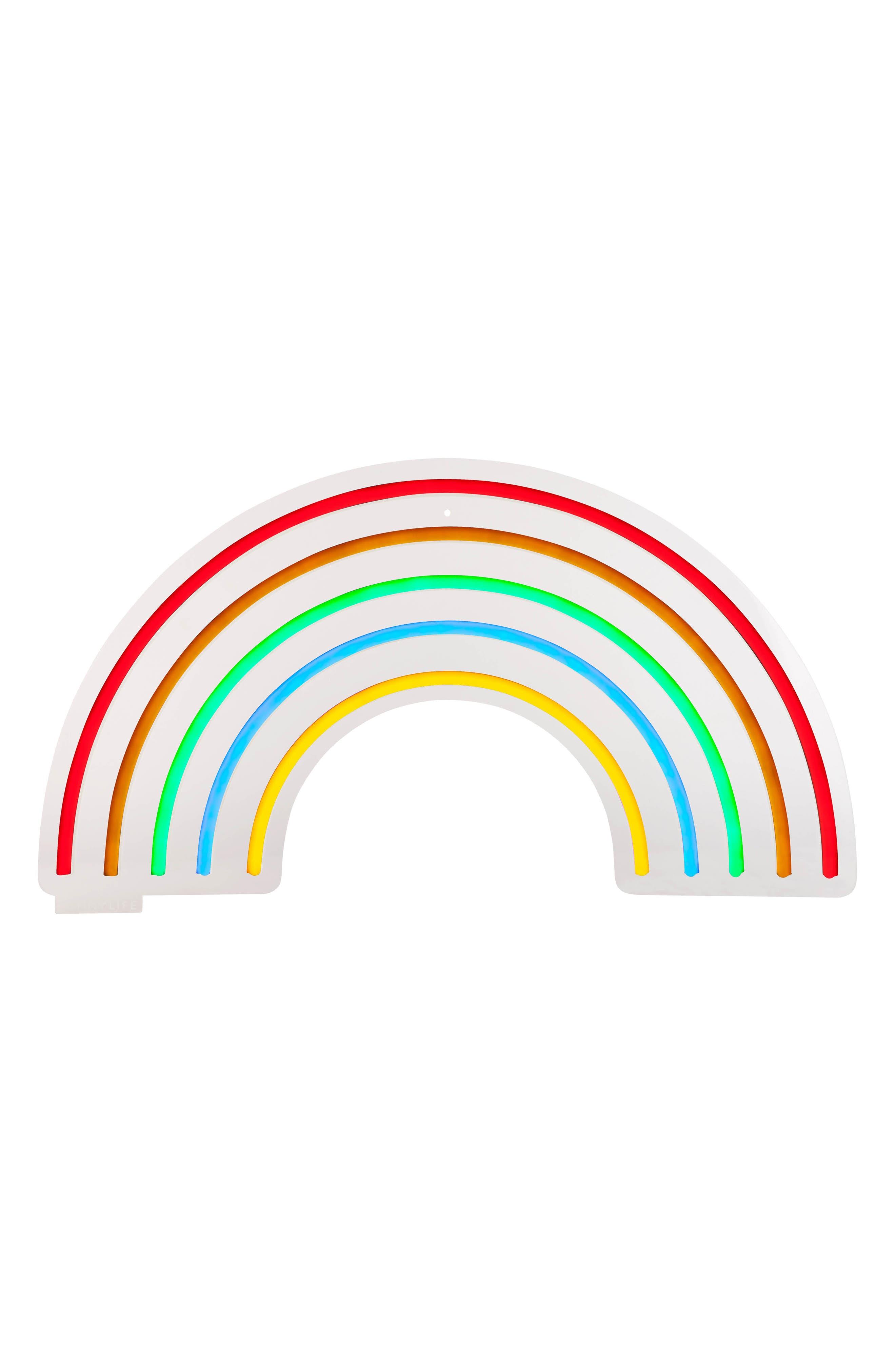 Rainbow Neon LED Wall Light,                             Main thumbnail 1, color,                             Multi