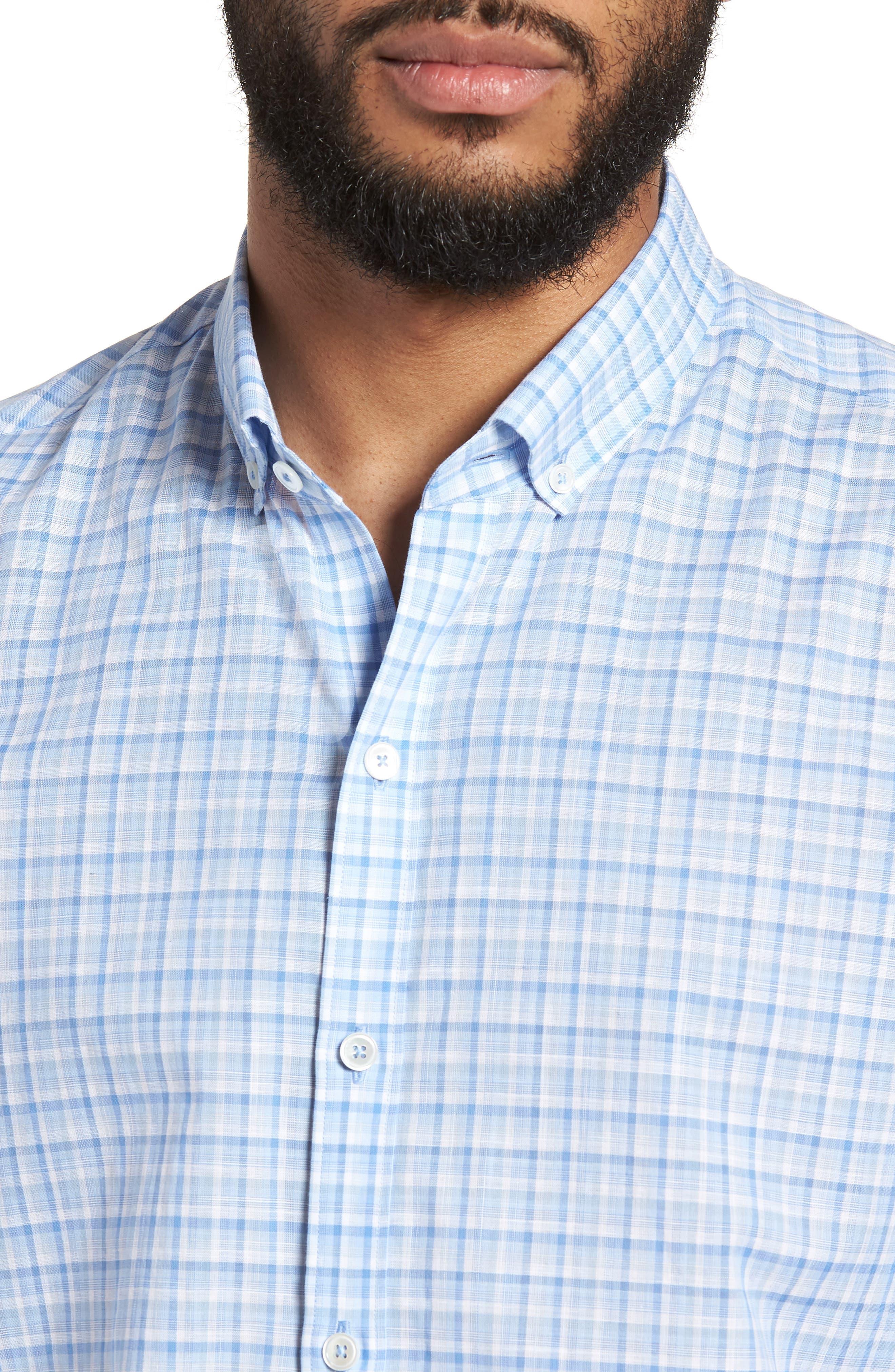 Suresh Regular Fit Sport Shirt,                             Alternate thumbnail 4, color,                             Sky