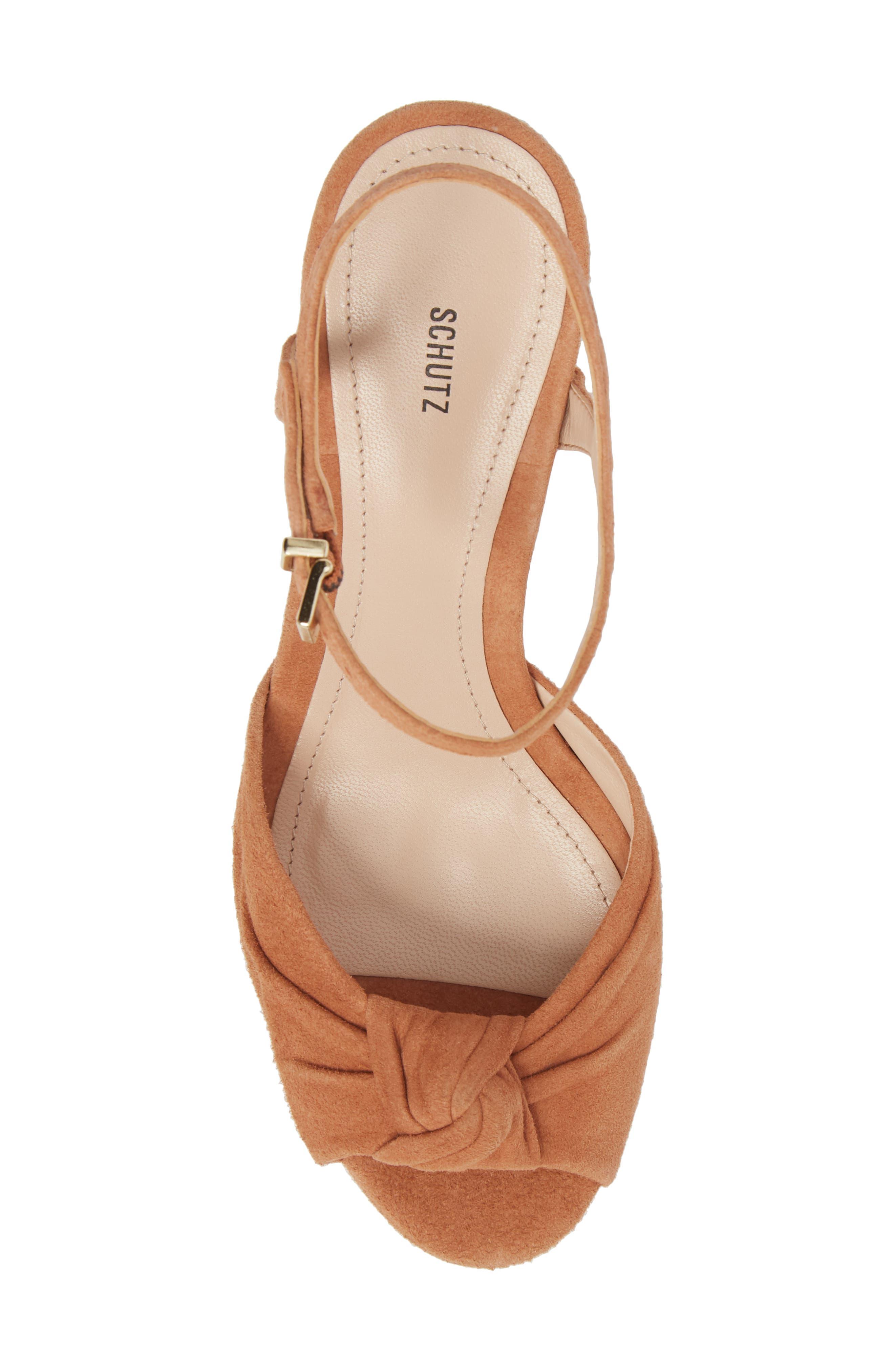 Thalyta Platform Sandal,                             Alternate thumbnail 5, color,                             Toasted Nut