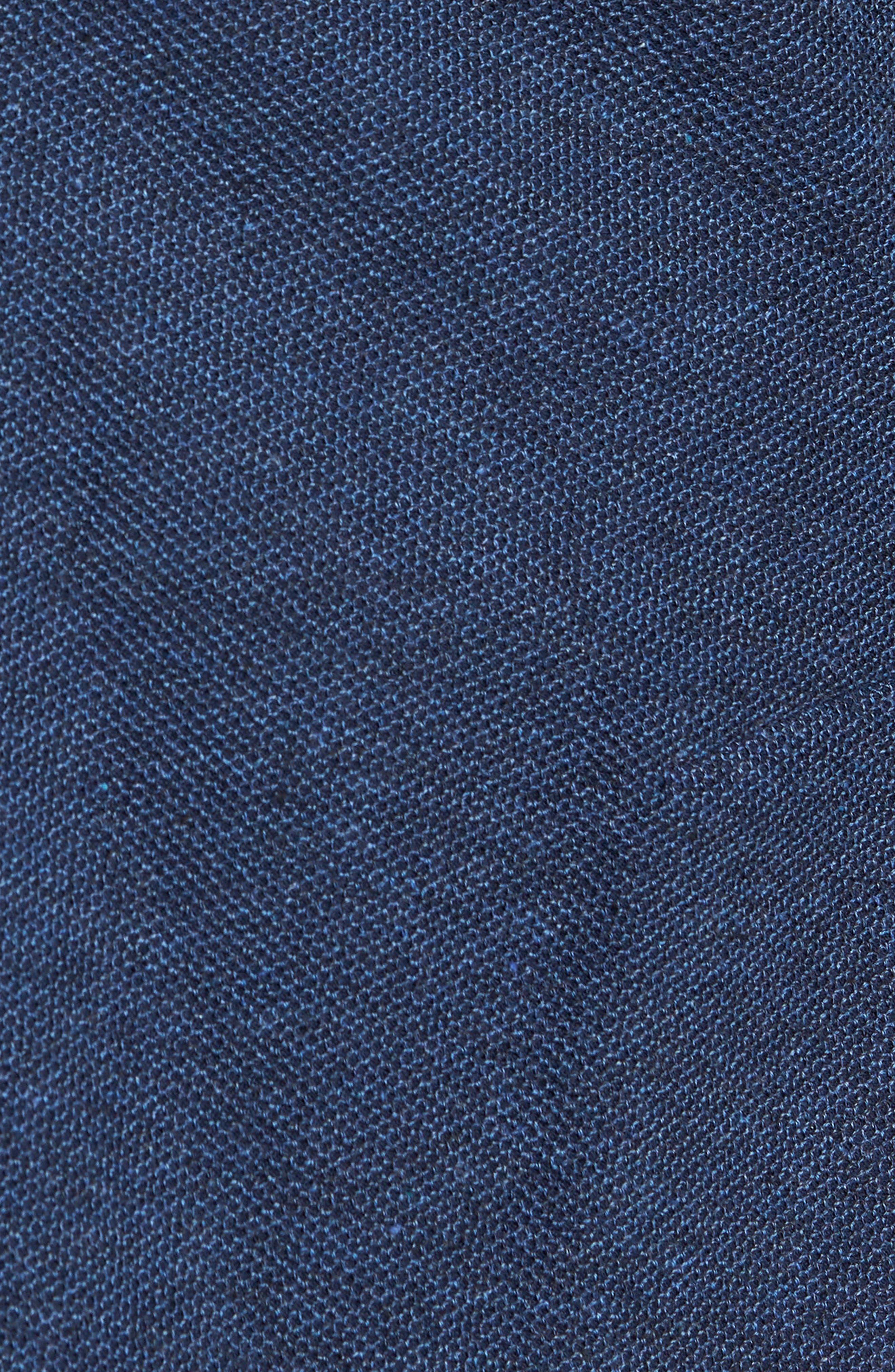 Trim Fit Cotton Blend Blazer,                             Alternate thumbnail 5, color,                             Mid Blue