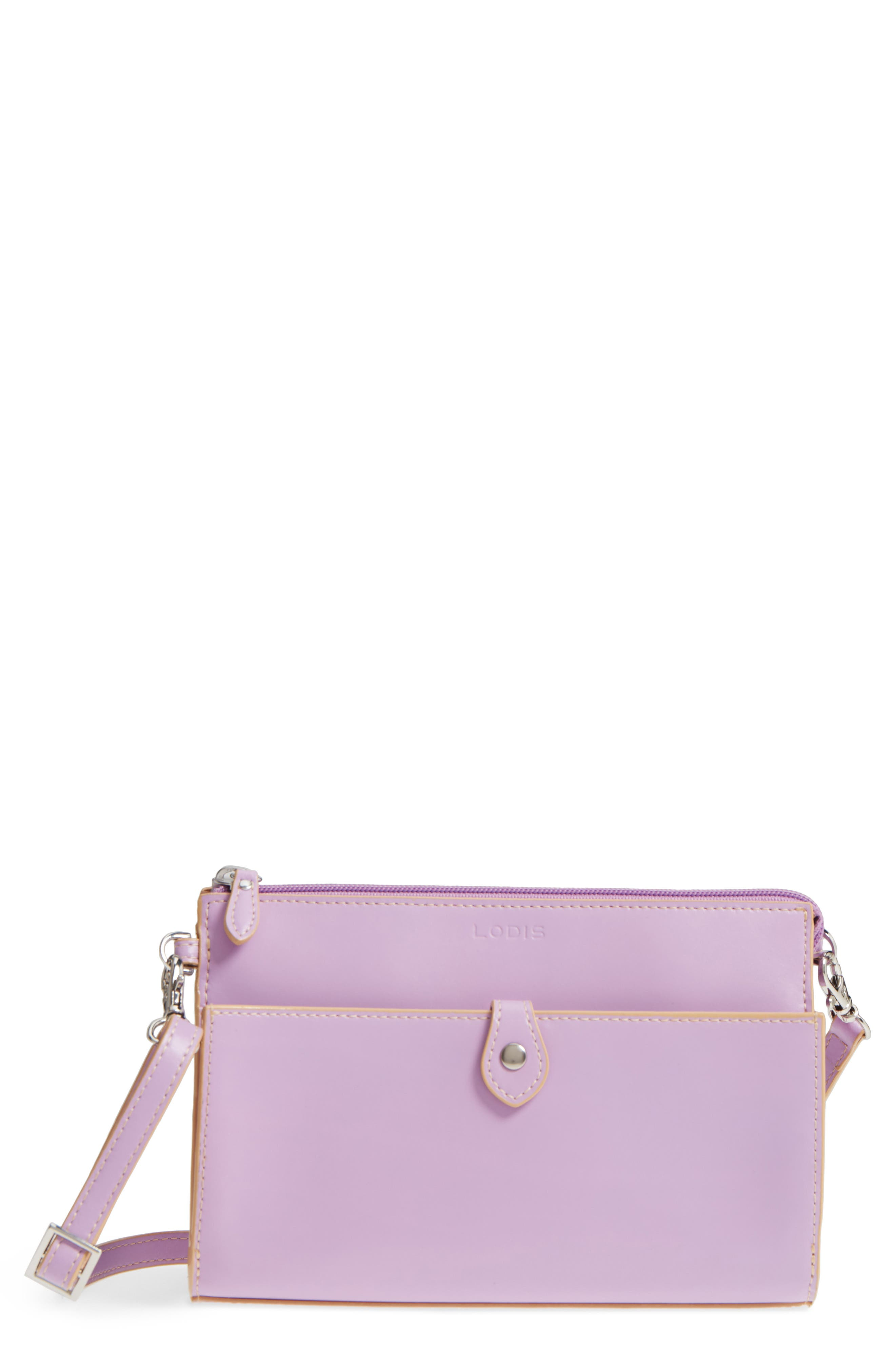 Alternate Image 1 Selected - LODIS Los Angeles Audrey Under Lock & Key Vicky Convertible Leather Crossbody Bag