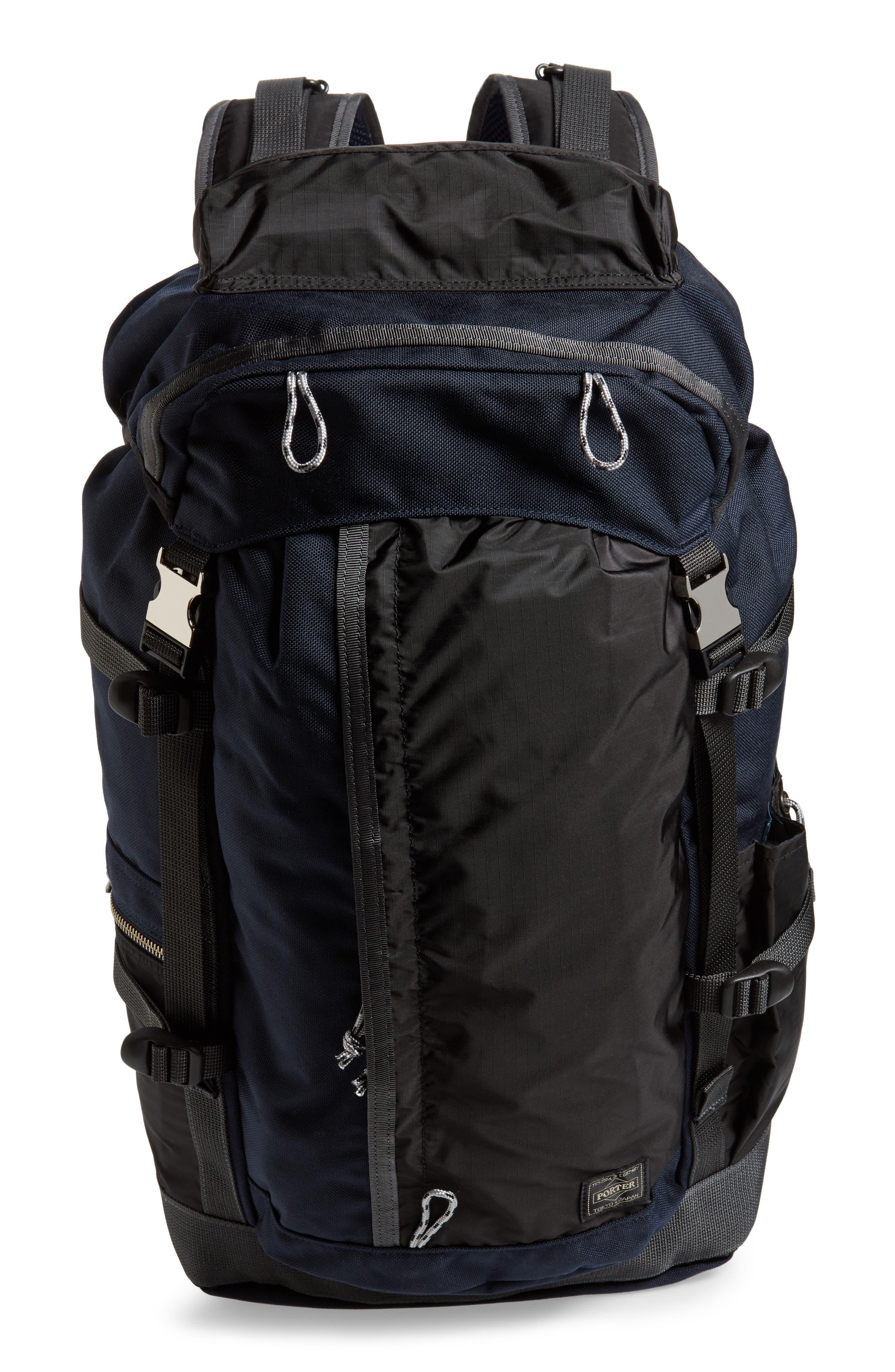 Porter-Yoshida & Co. Hype Backpack,                             Main thumbnail 1, color,                             Navy/ Black