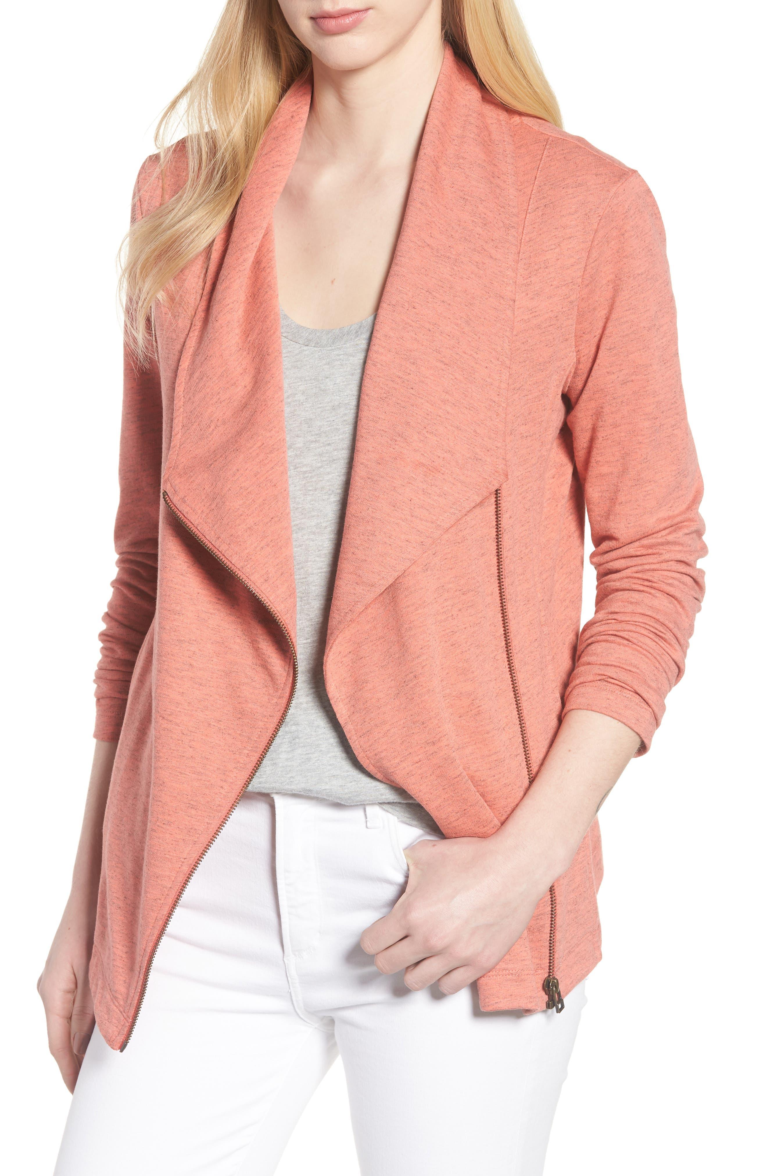 Caslon® Stella Knit Jacket (Regular & Petite)