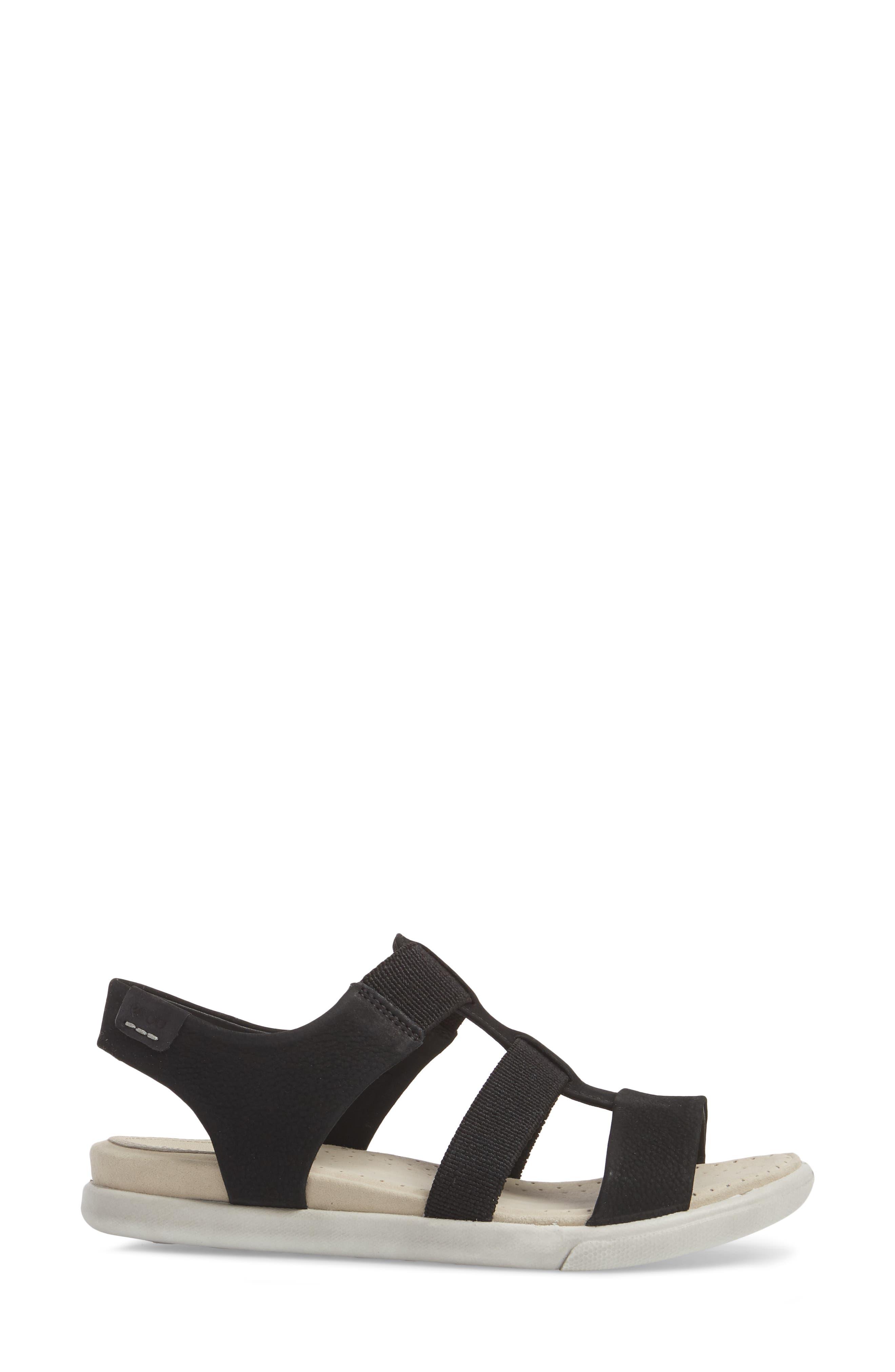 Damara Sandal,                             Alternate thumbnail 3, color,                             Black Leather