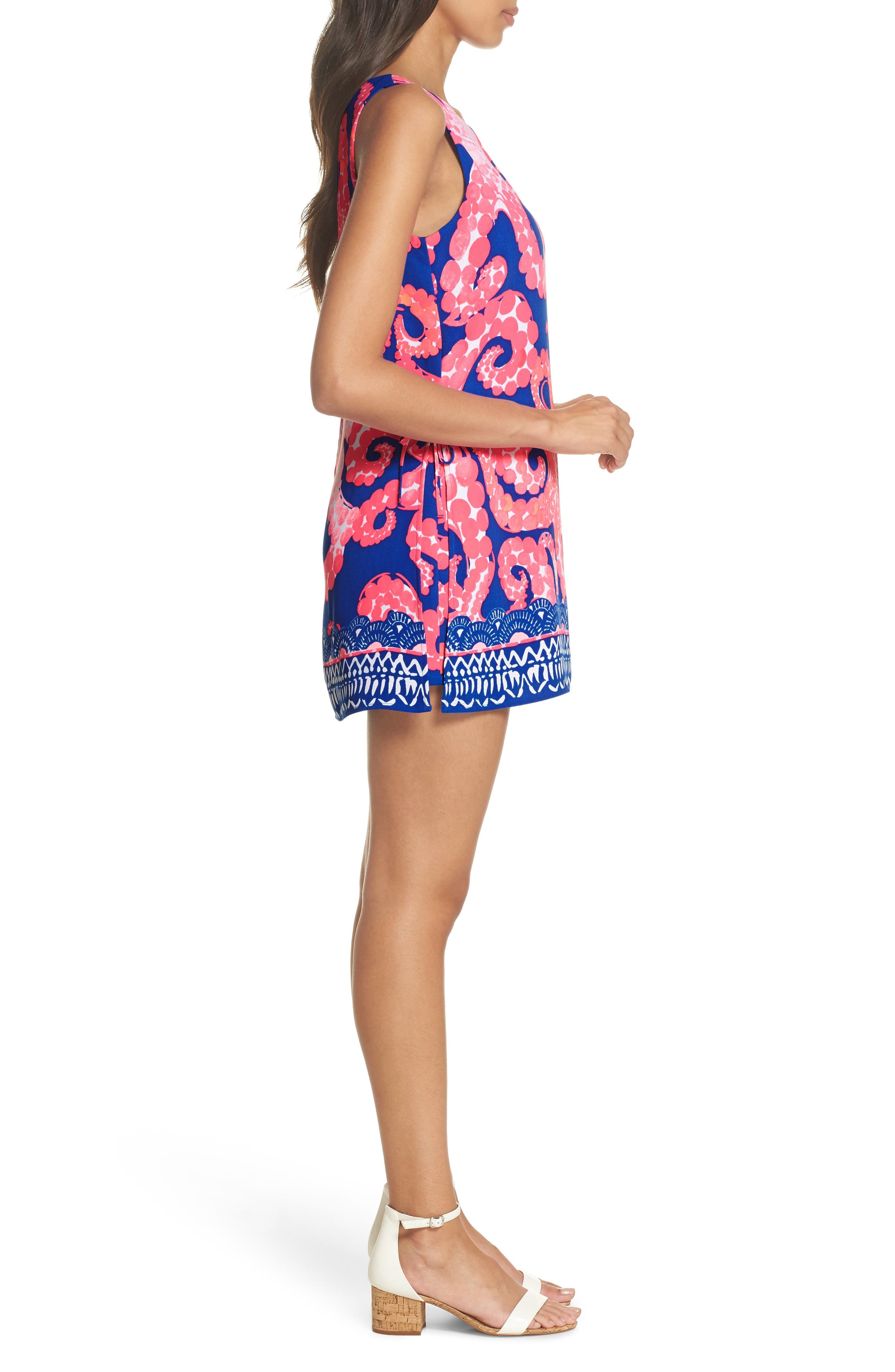 Donna Romper Dress,                             Alternate thumbnail 3, color,                             Ikat Blue Mocean