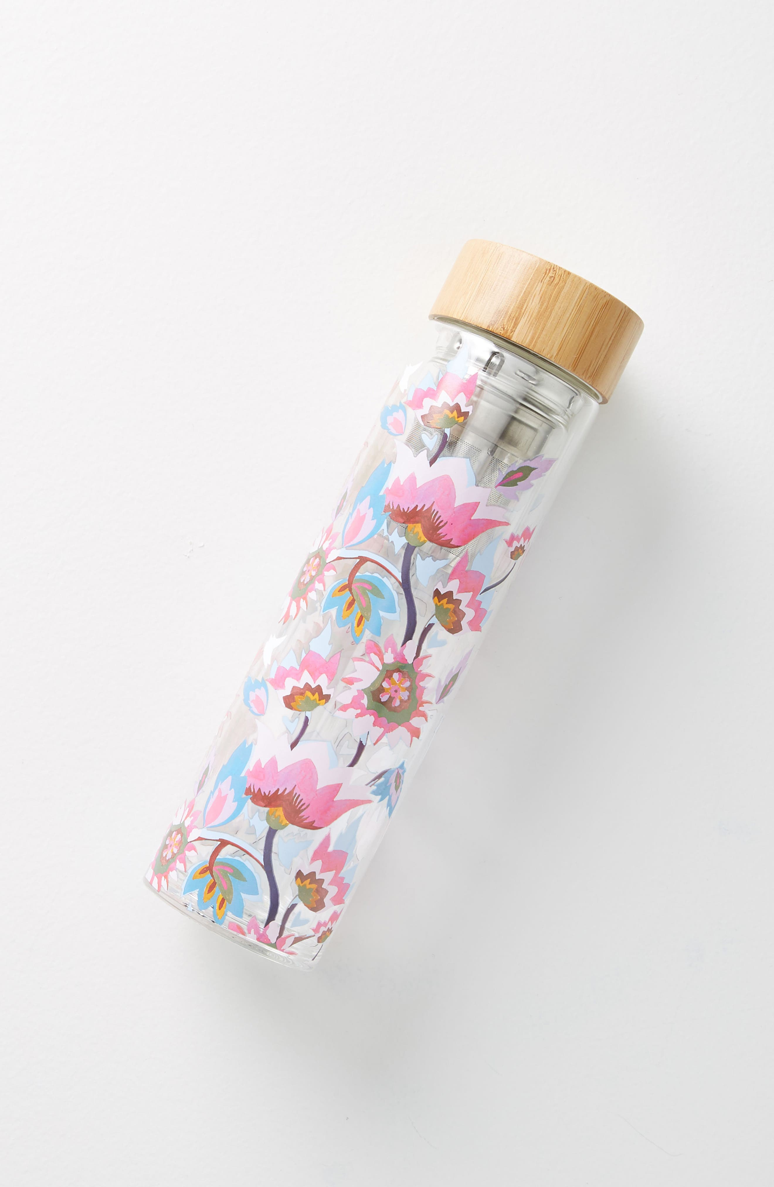 Tia Infuser Water Bottle,                             Alternate thumbnail 3, color,                             Dark Pink