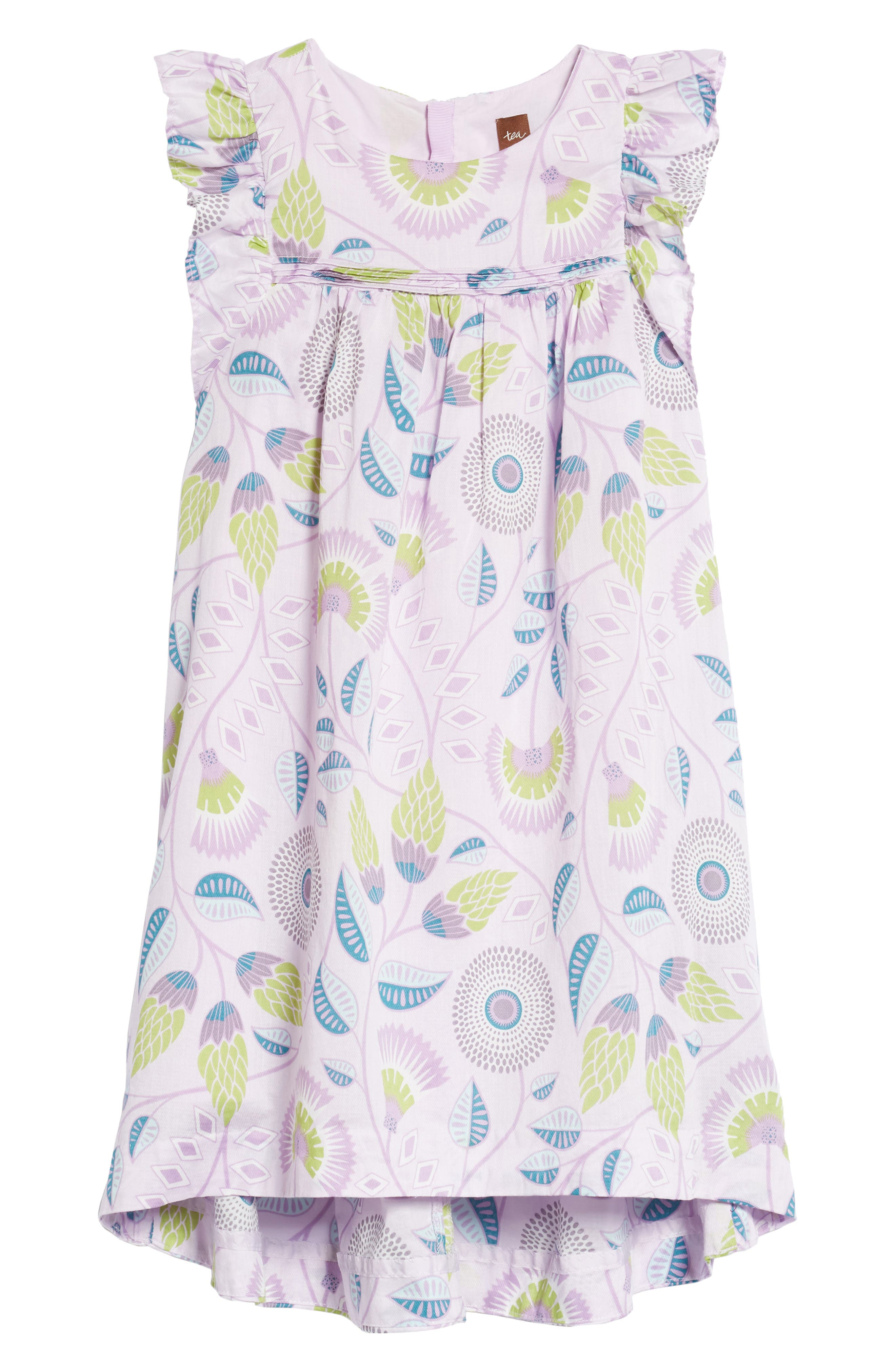 Blooming Floral High/Low Dress,                             Main thumbnail 1, color,                             African Lyrical