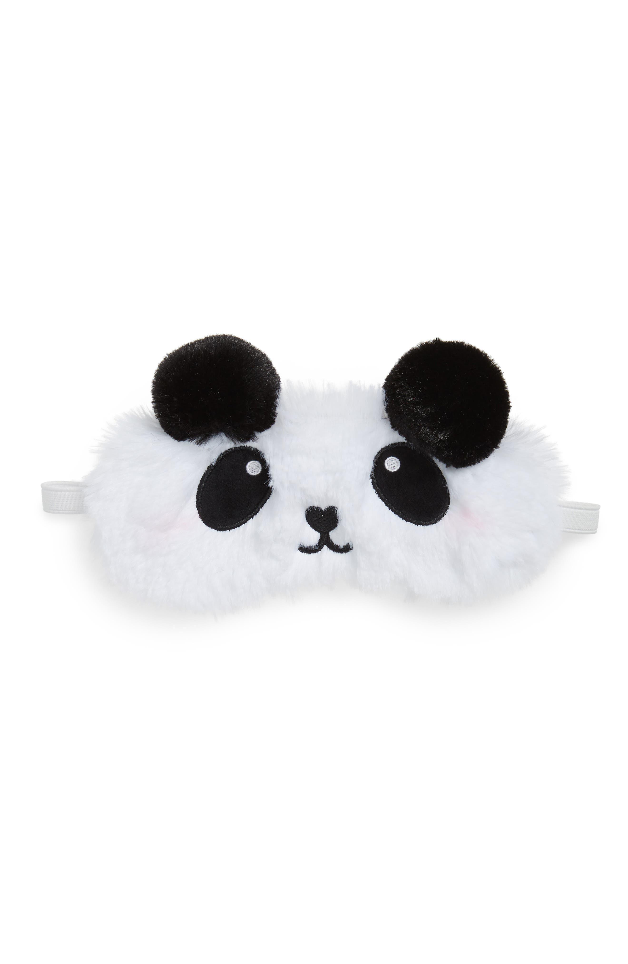 Panda Spa Eye Mask,                         Main,                         color, White
