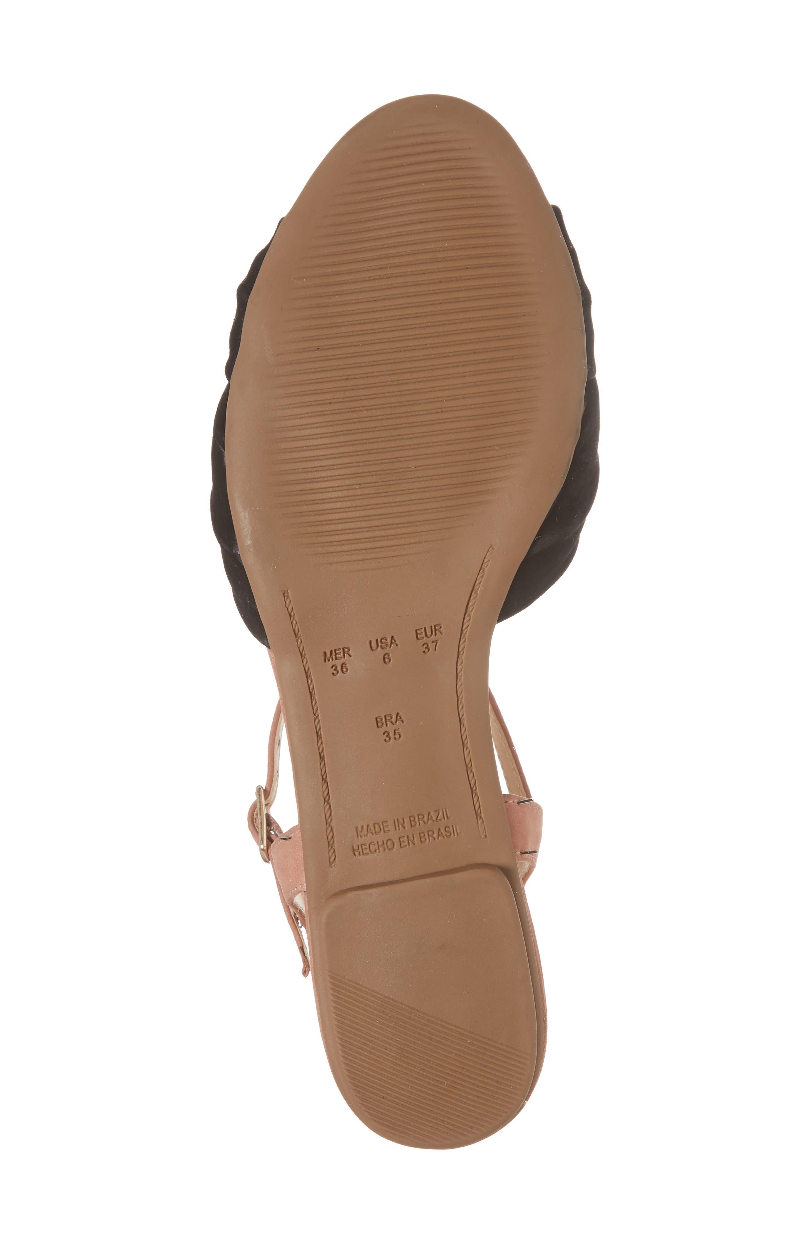 Giley Sandal,                             Alternate thumbnail 6, color,                             Black Nubuck Leather