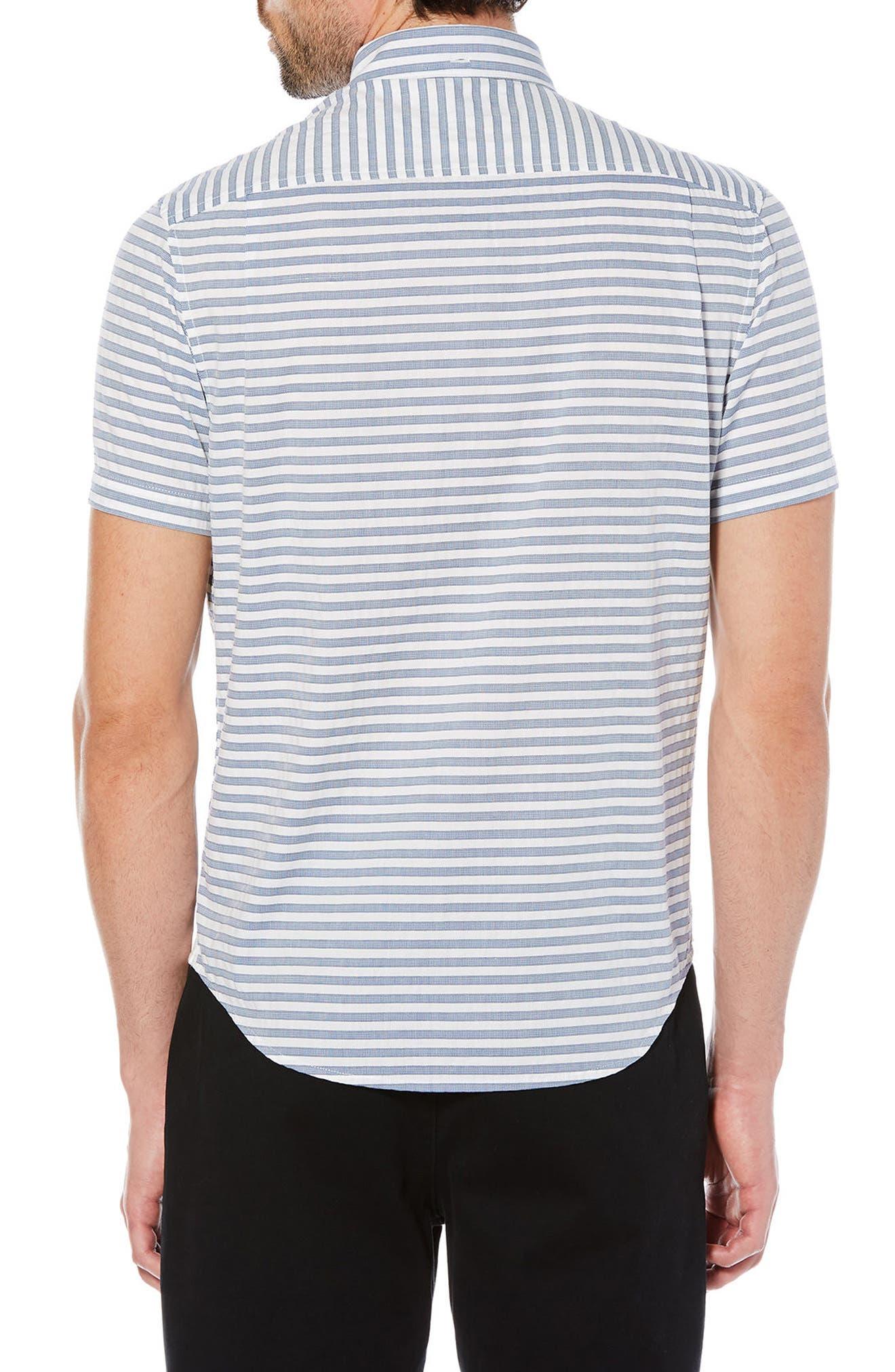 Dobby Stripe Shirt,                             Alternate thumbnail 2, color,                             Dark Sapphire