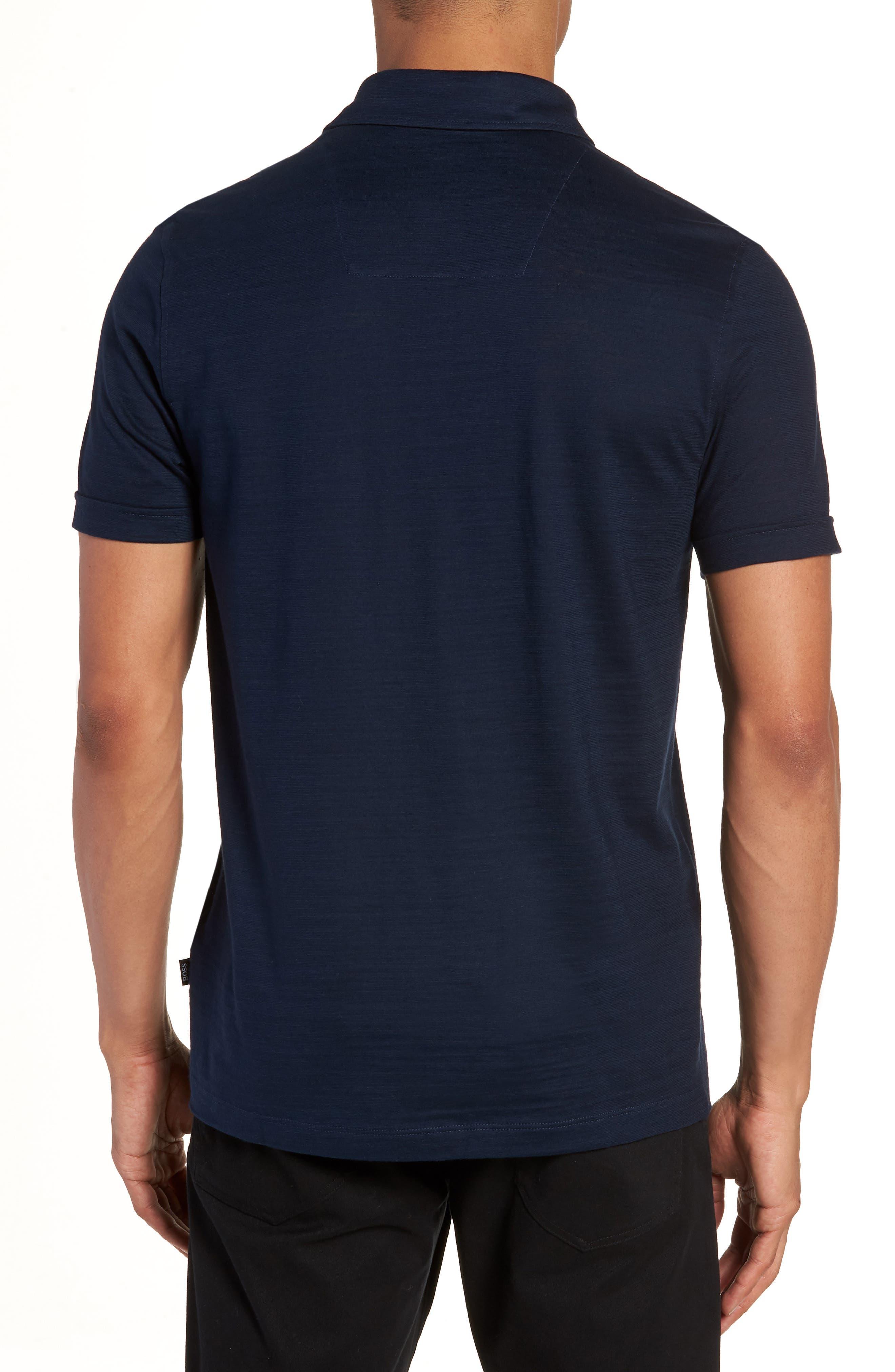 Press Flame Slim Fit Polo Shirt,                             Alternate thumbnail 2, color,                             Blue