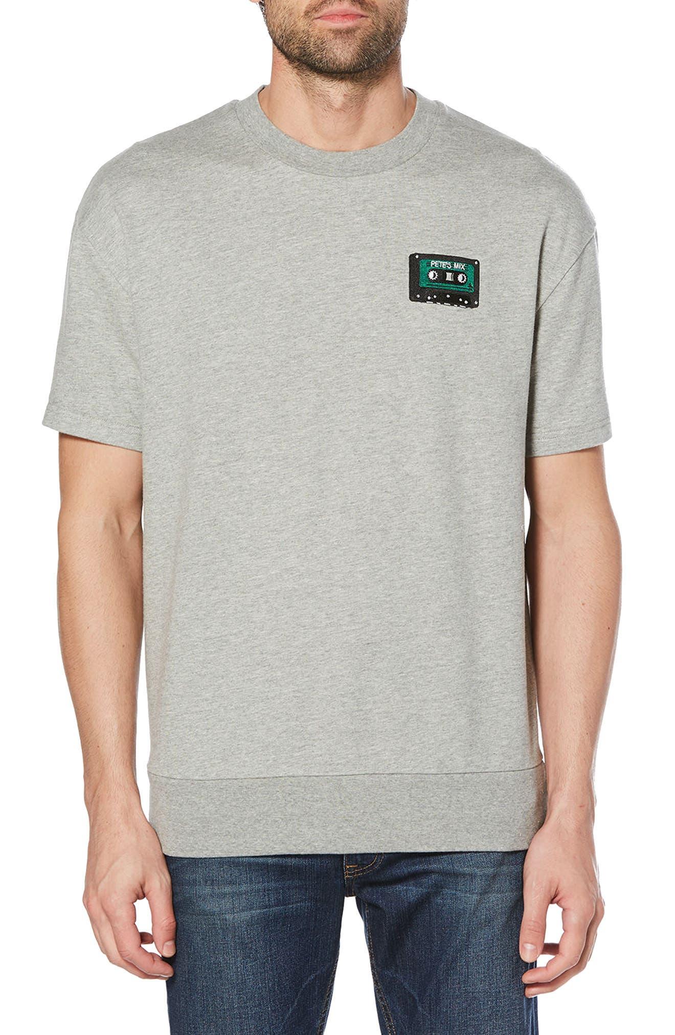 Crewneck T-Shirt,                         Main,                         color, Rain Heather