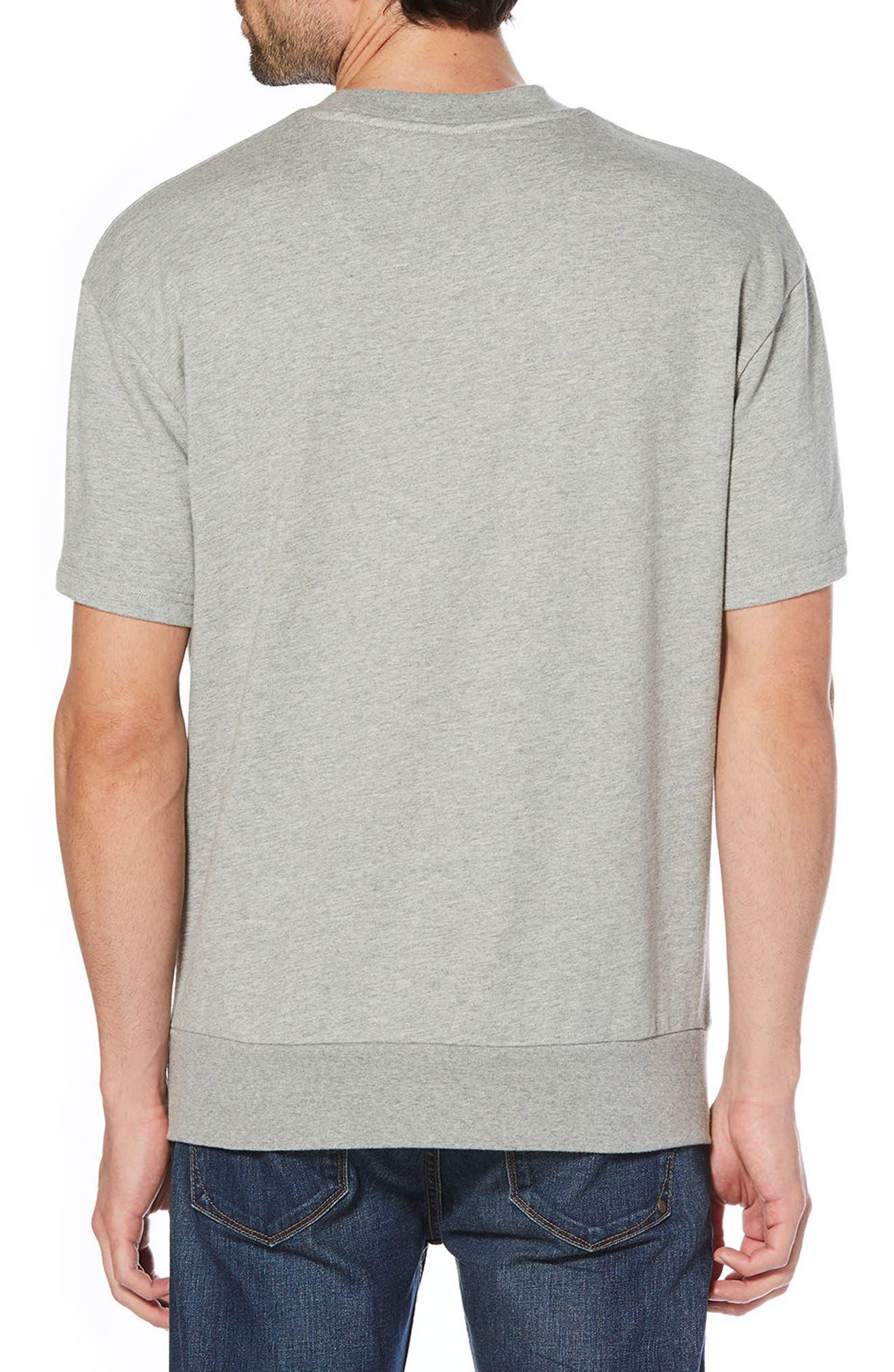 Crewneck T-Shirt,                             Alternate thumbnail 2, color,                             Rain Heather