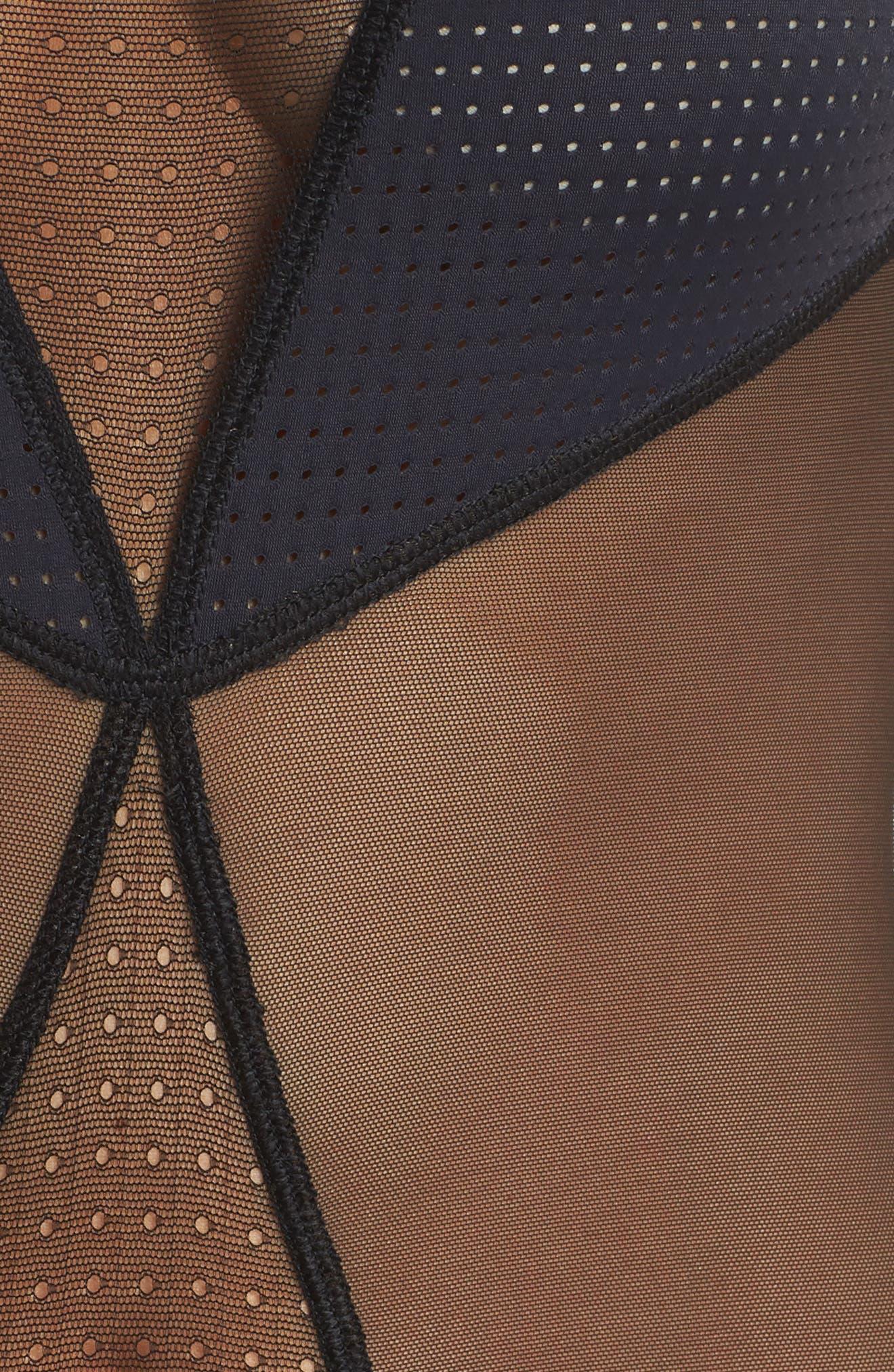 Alternate Image 6  - Calvin Klein Mesh Panel Bodysuit