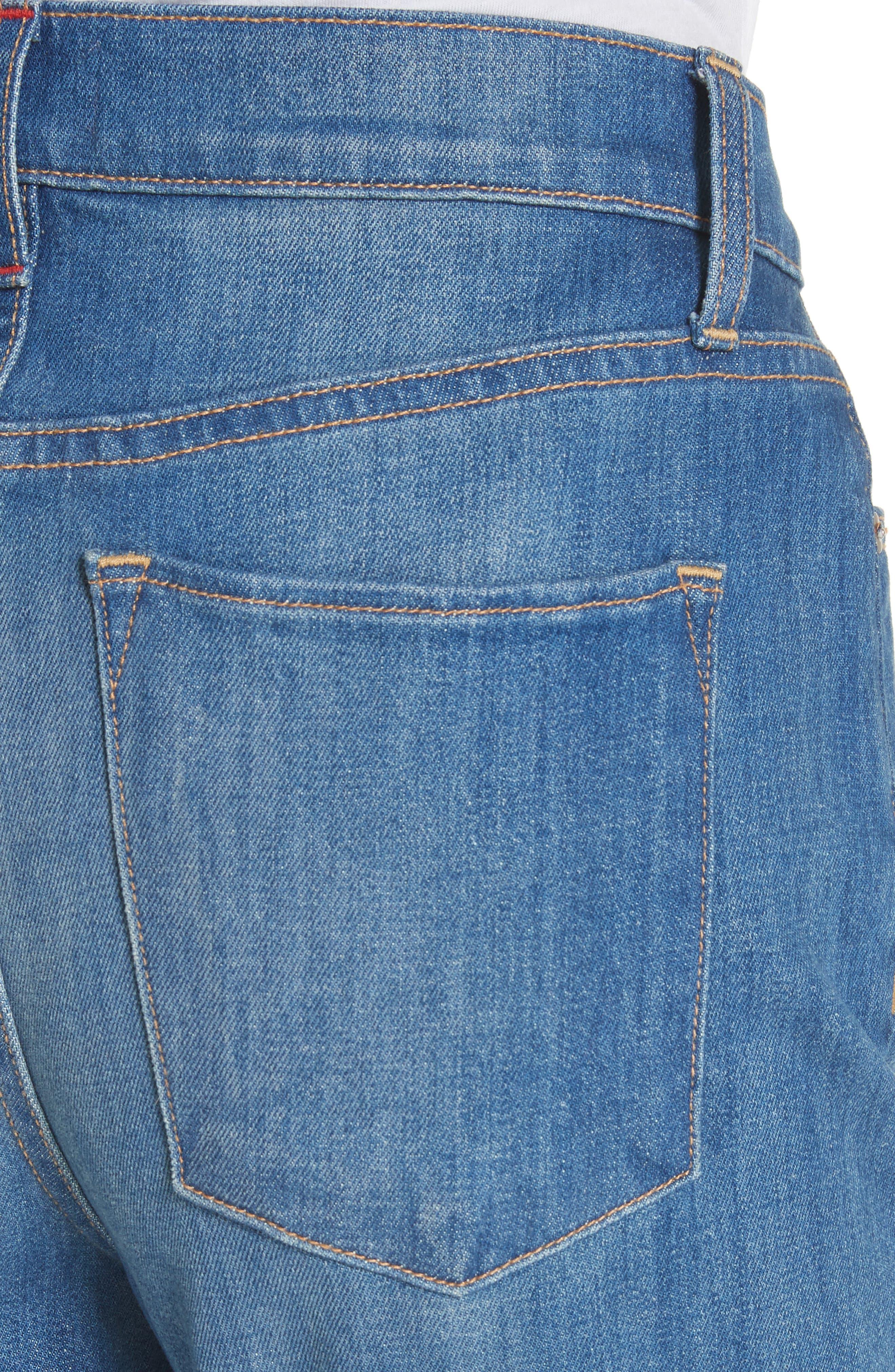 AO.LA Good High Waist Ankle Skinny Jeans,                             Alternate thumbnail 4, color,                             Side Hustle